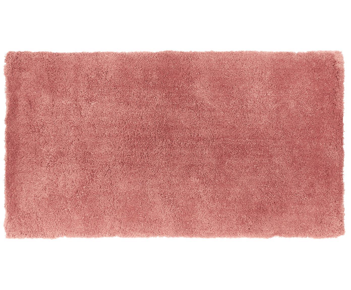 Pluizig hoogpolig vloerkleed Leighton in terracotta, Bovenzijde: 100% polyester (microveze, Onderzijde: 100% polyester, Terracotta, B 80 x L 150 cm (maat XS)
