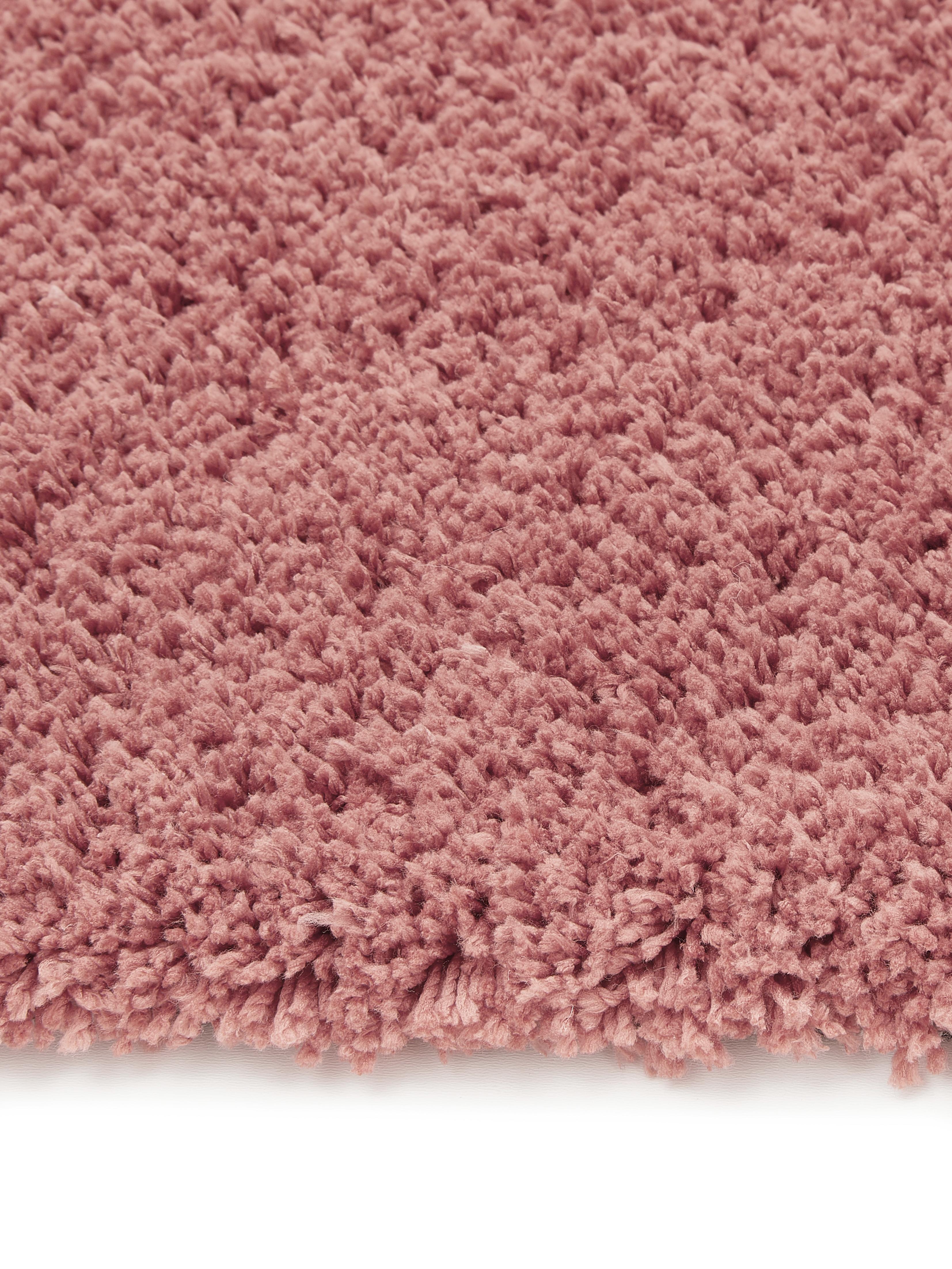 Pluizig hoogpolig vloerkleed Leighton in terracotta kleur, Bovenzijde: 100% polyester (microveze, Onderzijde: 70% polyester, 30% katoen, Terracotta, B 200 x L 300 cm (maat L)