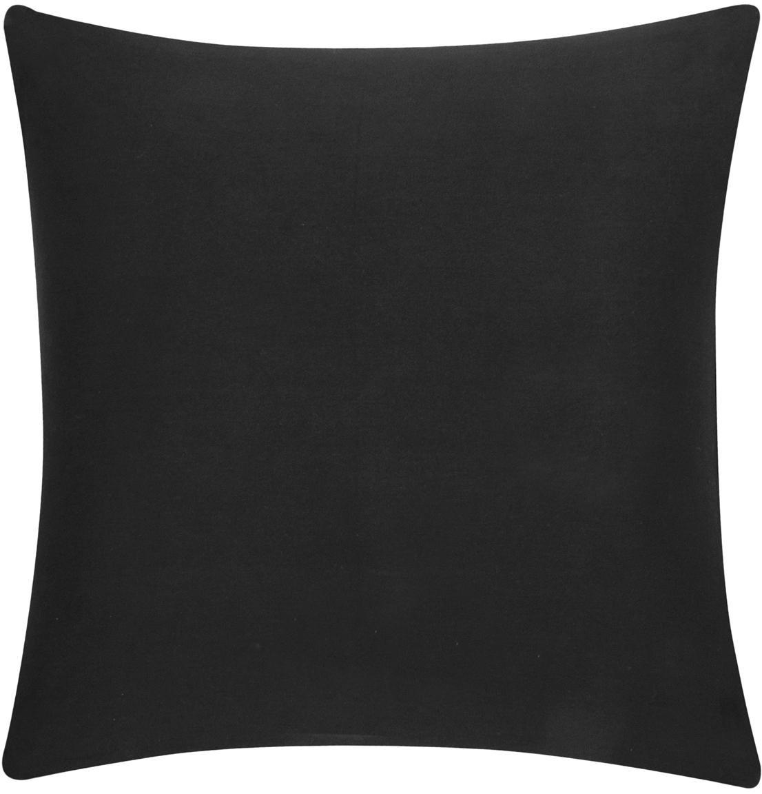 Funda de cojín de algodón Mads, 100%algodón, Negro, An 40 x L 40 cm
