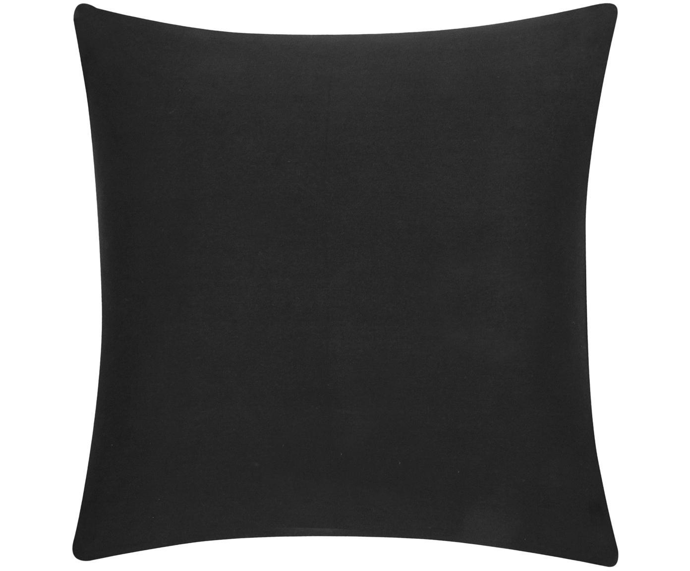 Funda de cojín de algodón Mads, Algodón, Negro, An 40 x L 40 cm