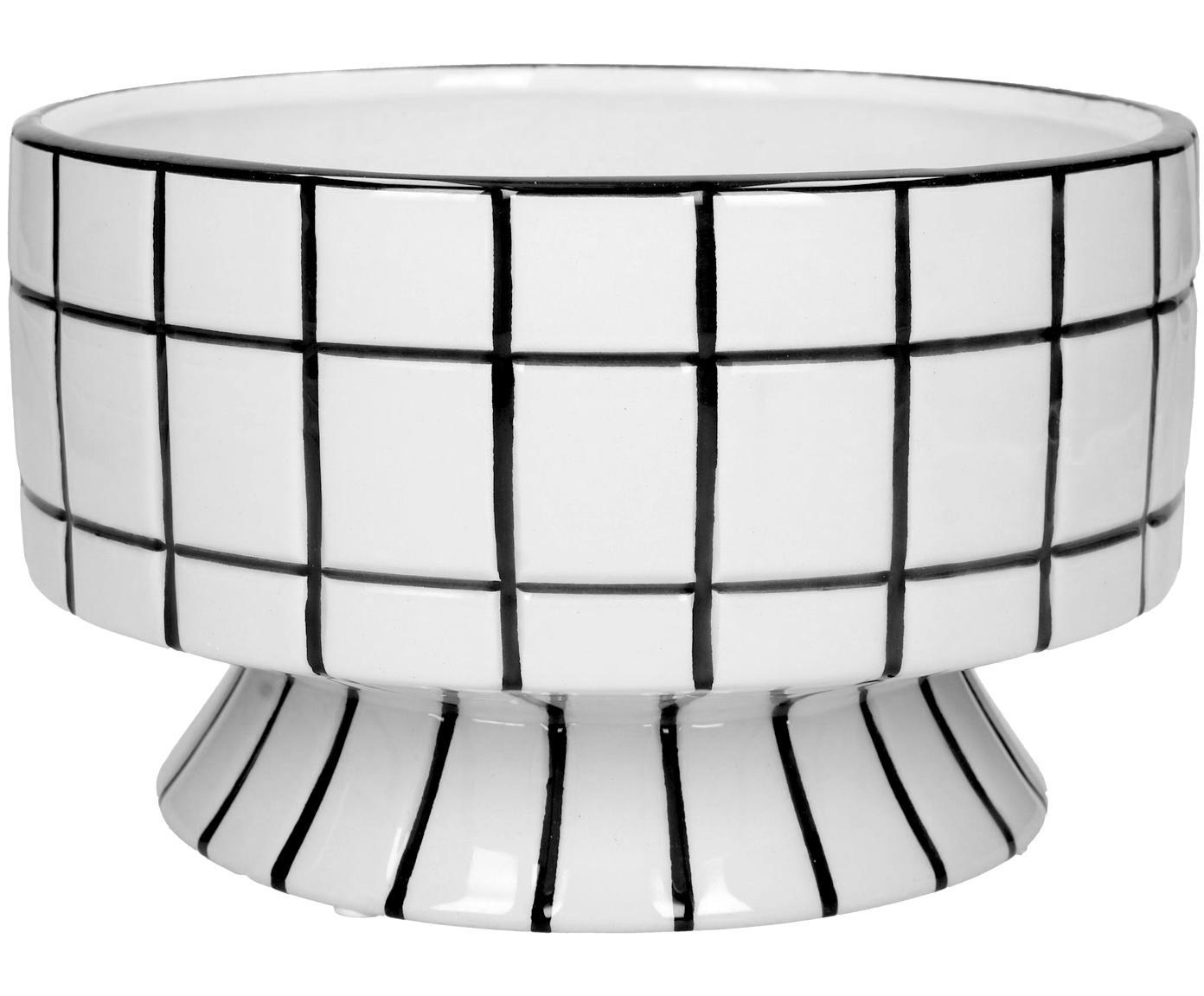 Decoratieve schaal Poplar, Keramiek, Wit, zwart, Ø 20 x H 12 cm