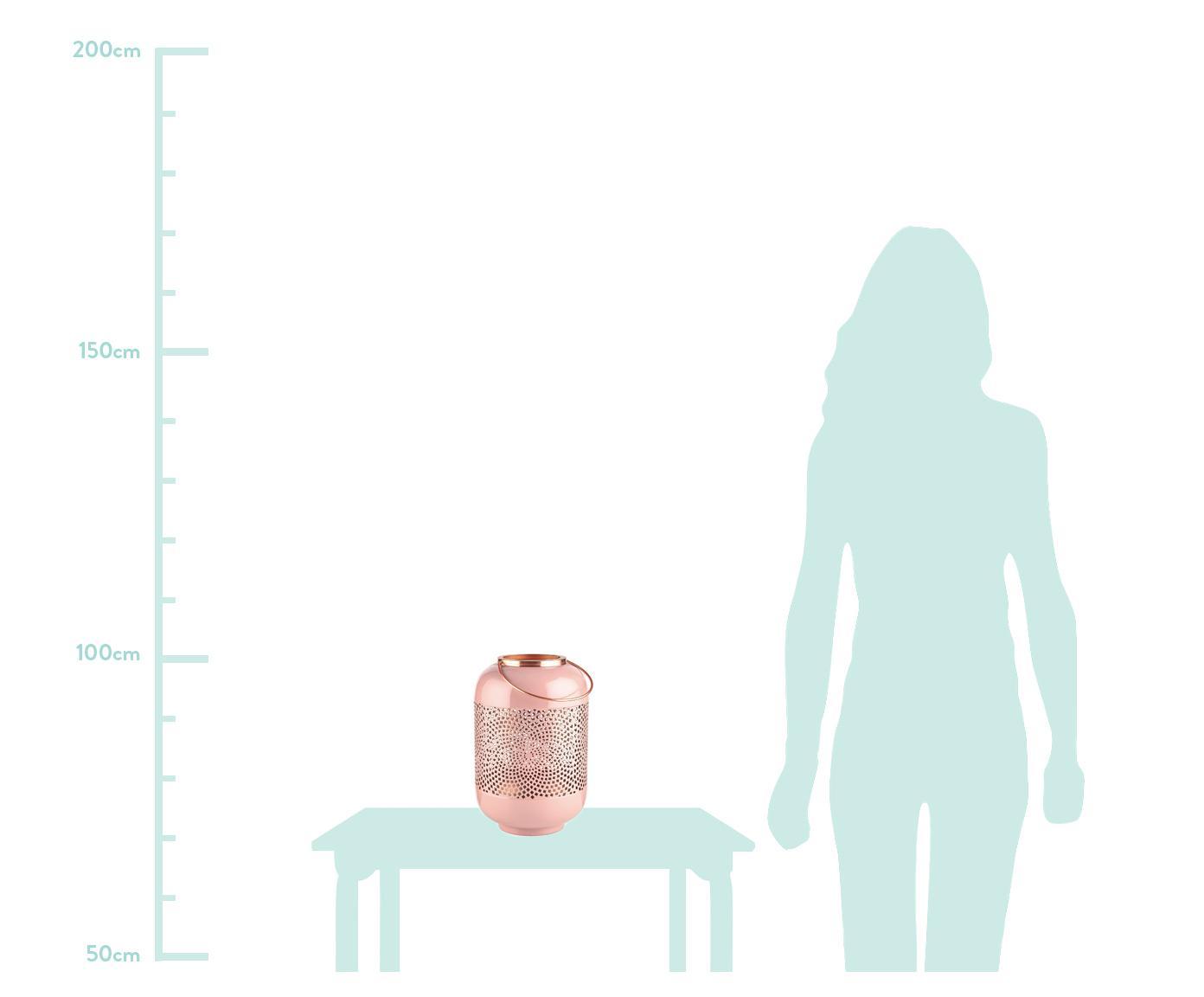 Świecznik Emilie, Metal, Blady różowy, odcienie miedzi, Ø 20 x W 30 cm