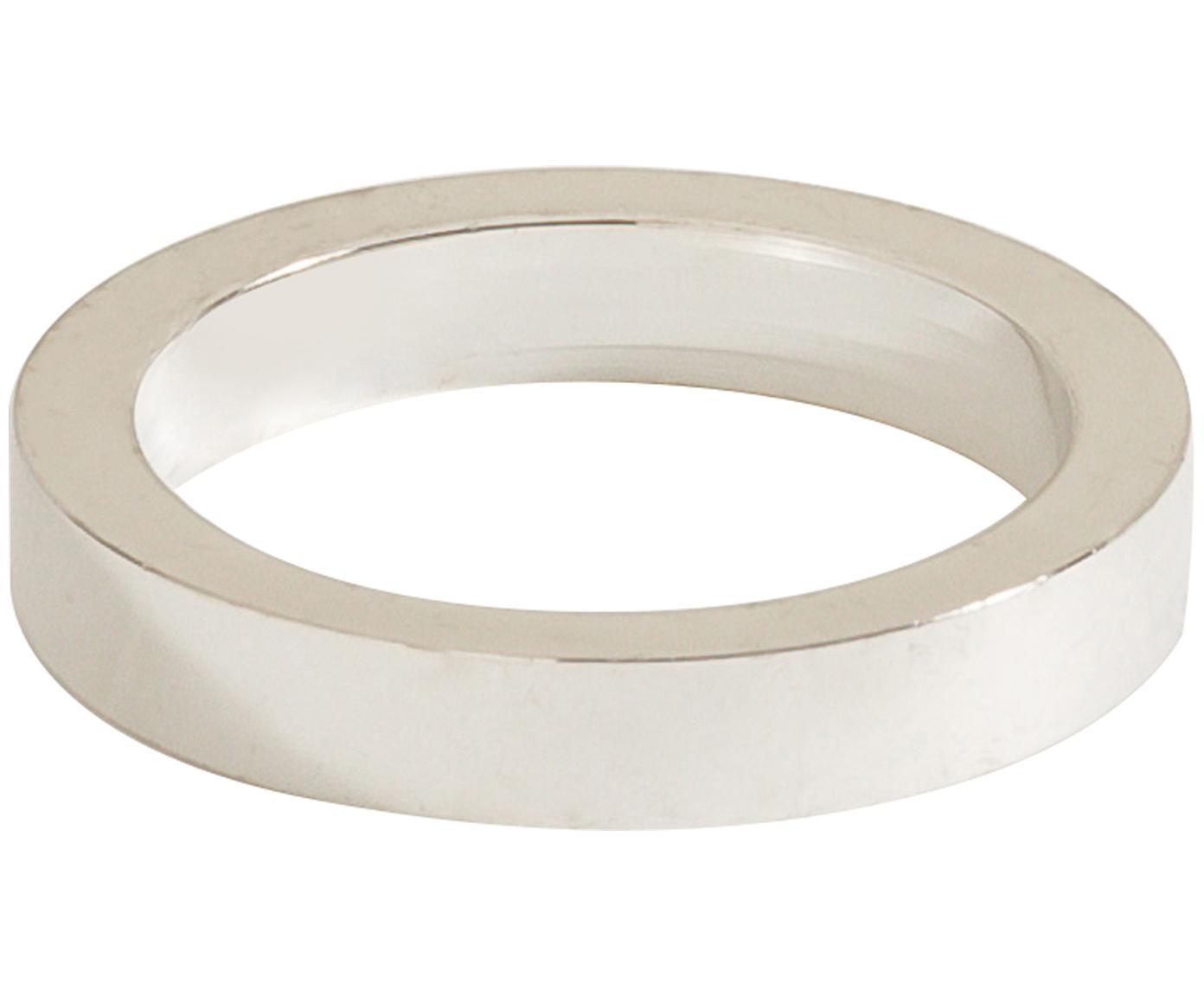 Serviettenringe Vasa, 4 Stück, Metall, Silberfarben, Ø 5 cm