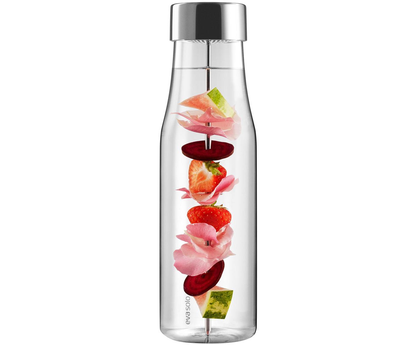 Karaf My Flavour, Deksel: edelstaal, siliconen, Karaf: transparant.  Deksel en spies: edelstaalkleurig, 1 L