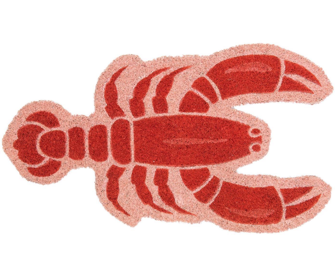 Zerbino Lobster, Fibra di cocco, Rosa, rosso, Larg. 40 x Lung. 70 cm