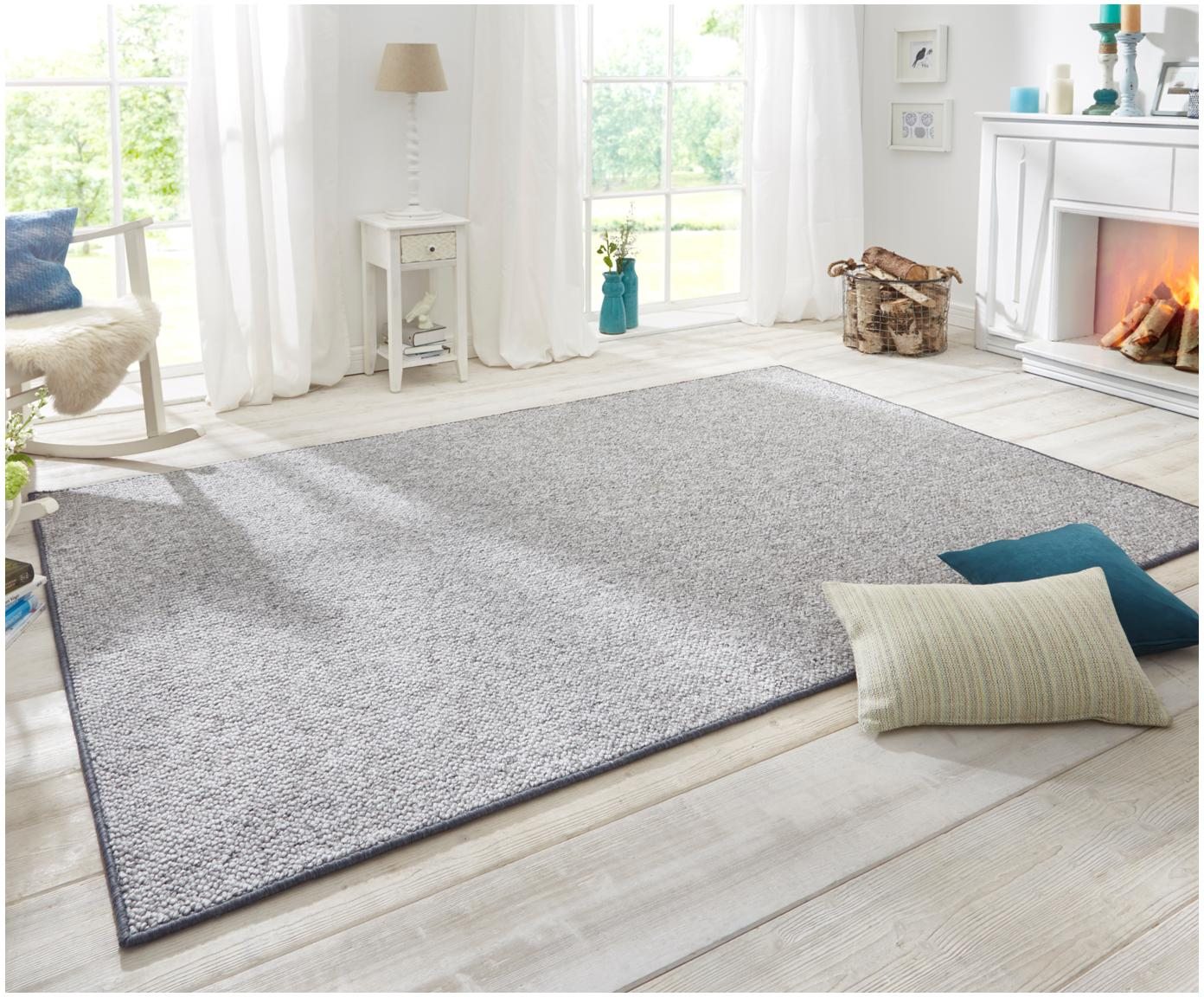 Teppich Lyon mit Schlingen-Flor, Flor: 100% Polypropylen Rücken, Grau, melangiert, B 100 x L 140 cm (Größe XS)