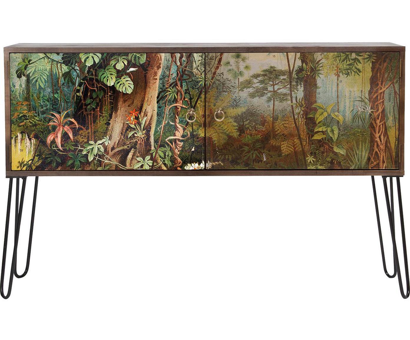 Cómoda Sabana, Patas: metal, recubierto con epo, Multicolor, An 115 x Al 74 cm