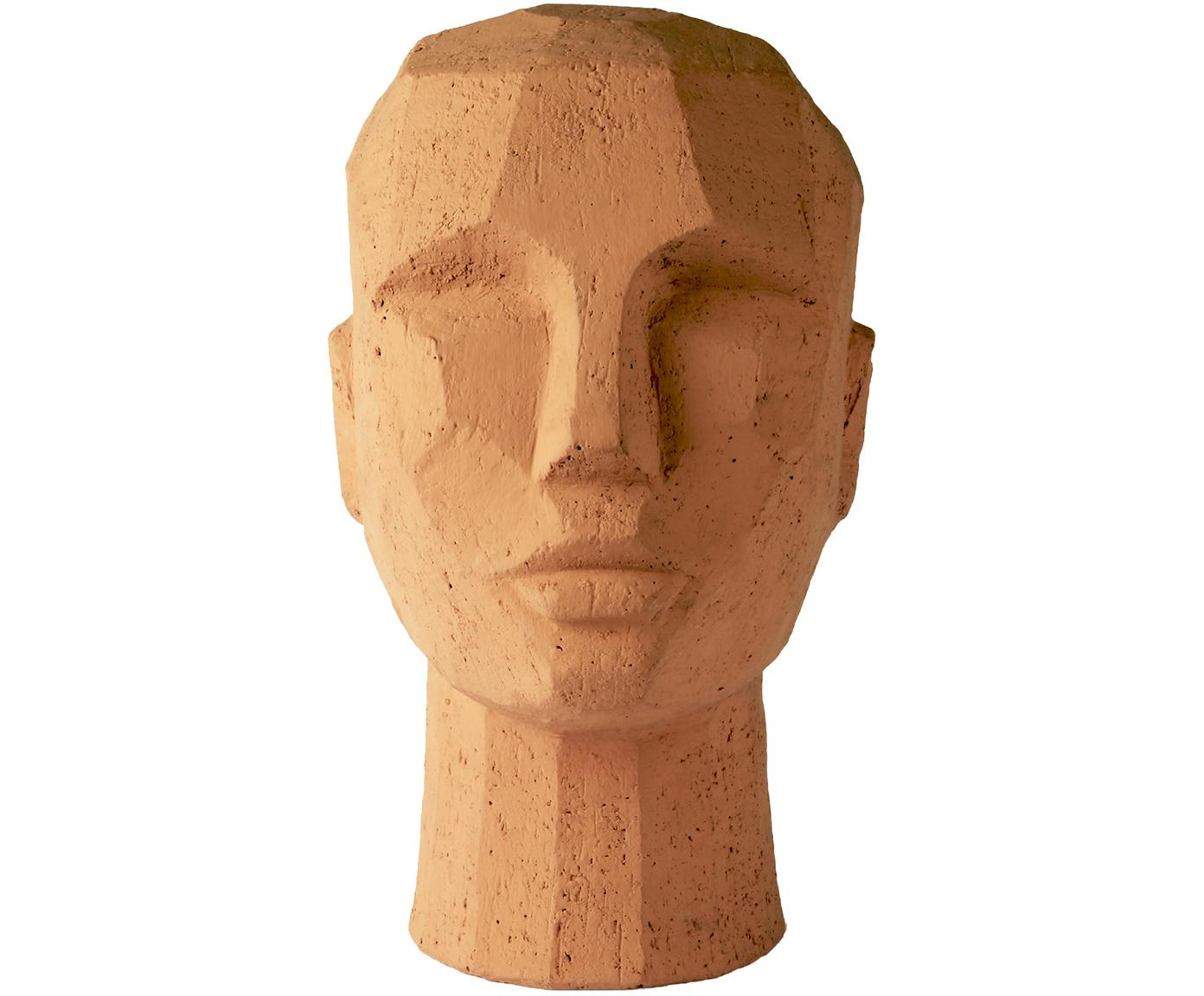 Decoratief object Head, Terracotta, Terracottarood, 18 x 25 cm