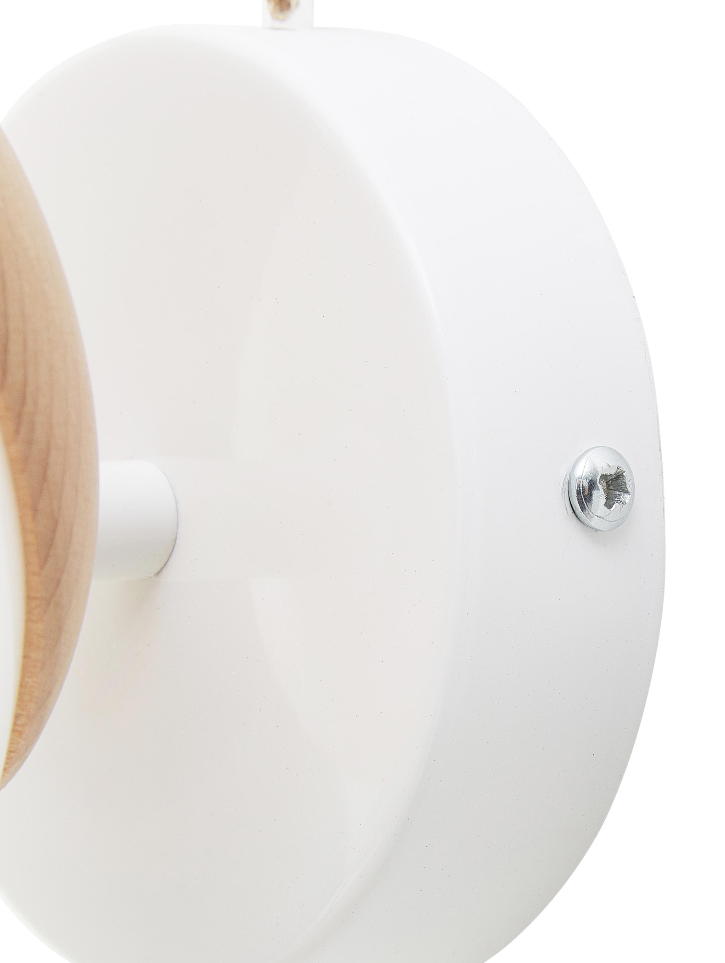 Wandleuchte Sfera, Lampenschirm: Opalglas, Opalweiß, Braun, 15 x 15 cm
