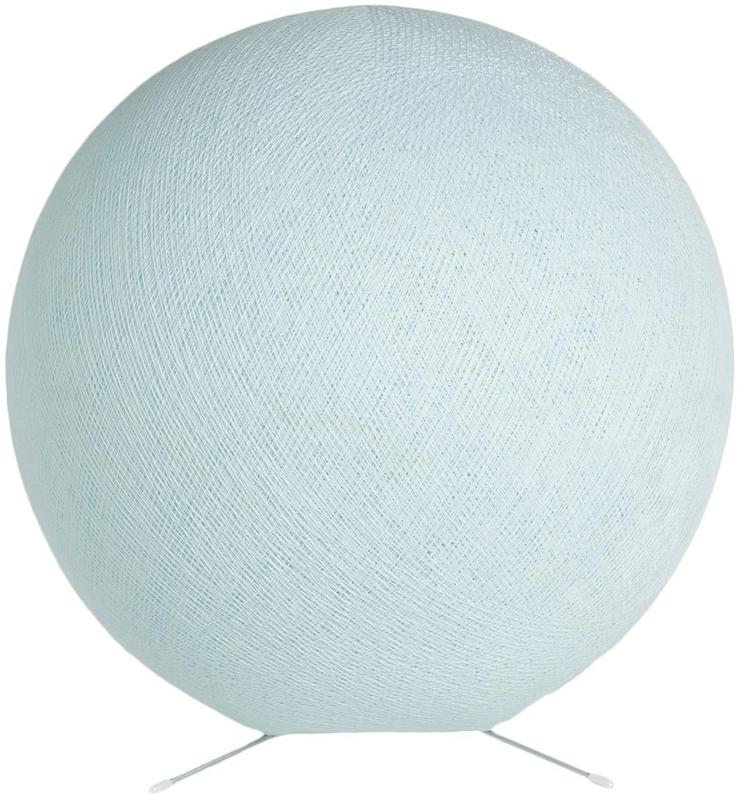 DIY Tischlampe Colorain, Lampenschirm: Polyester, Lampenfuß: Metall, Hellblau, Ø 36 cm