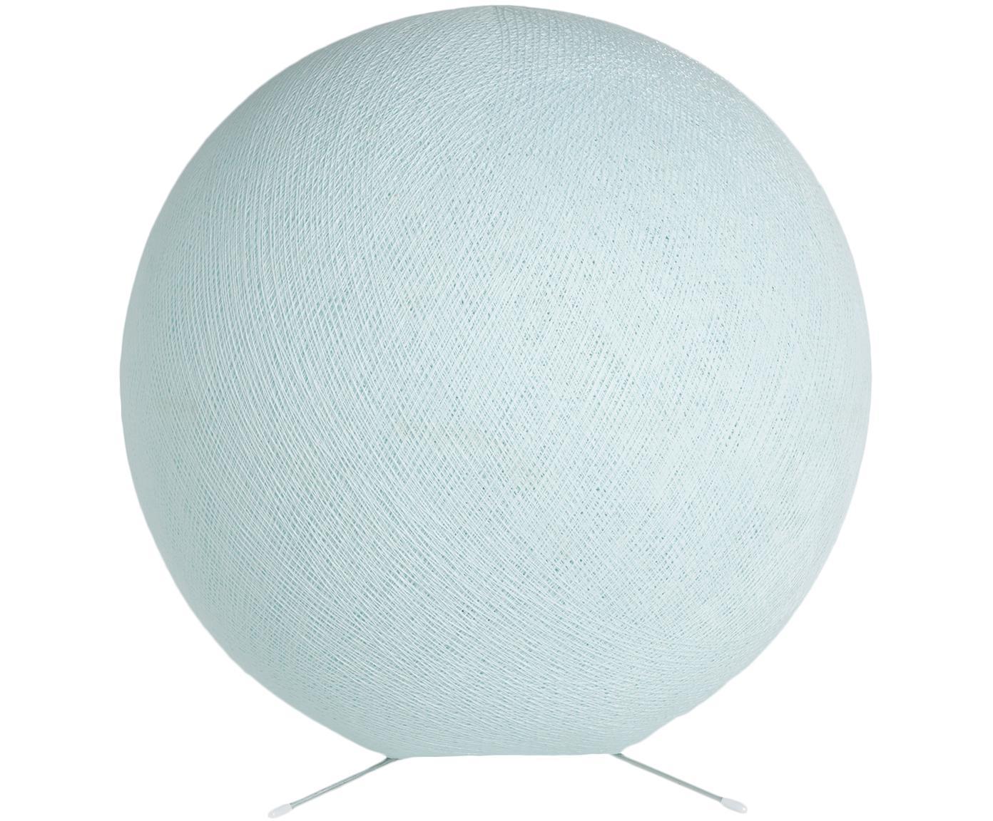 Tischleuchte Colorain, Lampenschirm: Polyester, Lampenfuß: Metall, Hellblau, Ø 36 cm