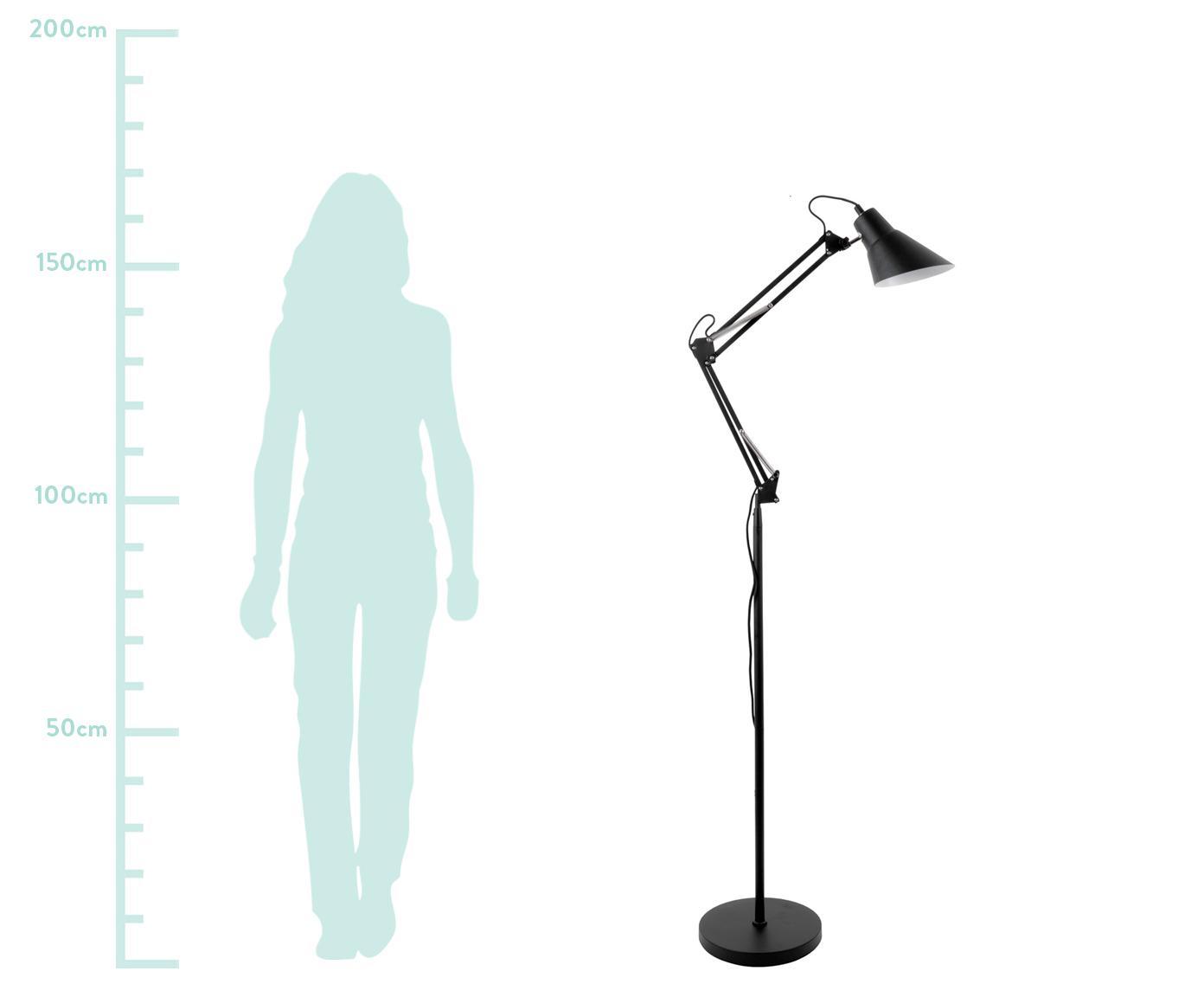 Stehlampe Fit, Leuchte: Metall, beschichtet, Schwarz, Ø 28 x H 165 cm