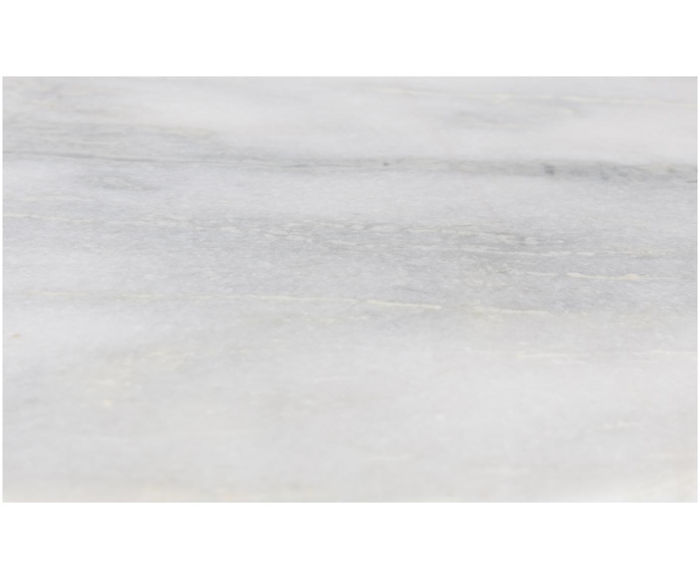 Okrągły stolik pomocniczy z marmuru Timpa, Blat: marmur, Nogi: żelazo mosiądzowane, Blat: biały, marmurowy Nogi: mosiądz, Ø 45 x W 54 cm