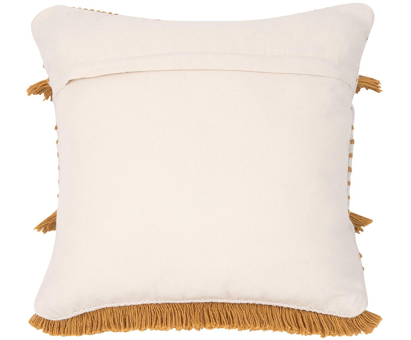 Poszewka na poduszkę Tulika, 100% bawełna, Żółty, beżowy, S 45 x D 45 cm