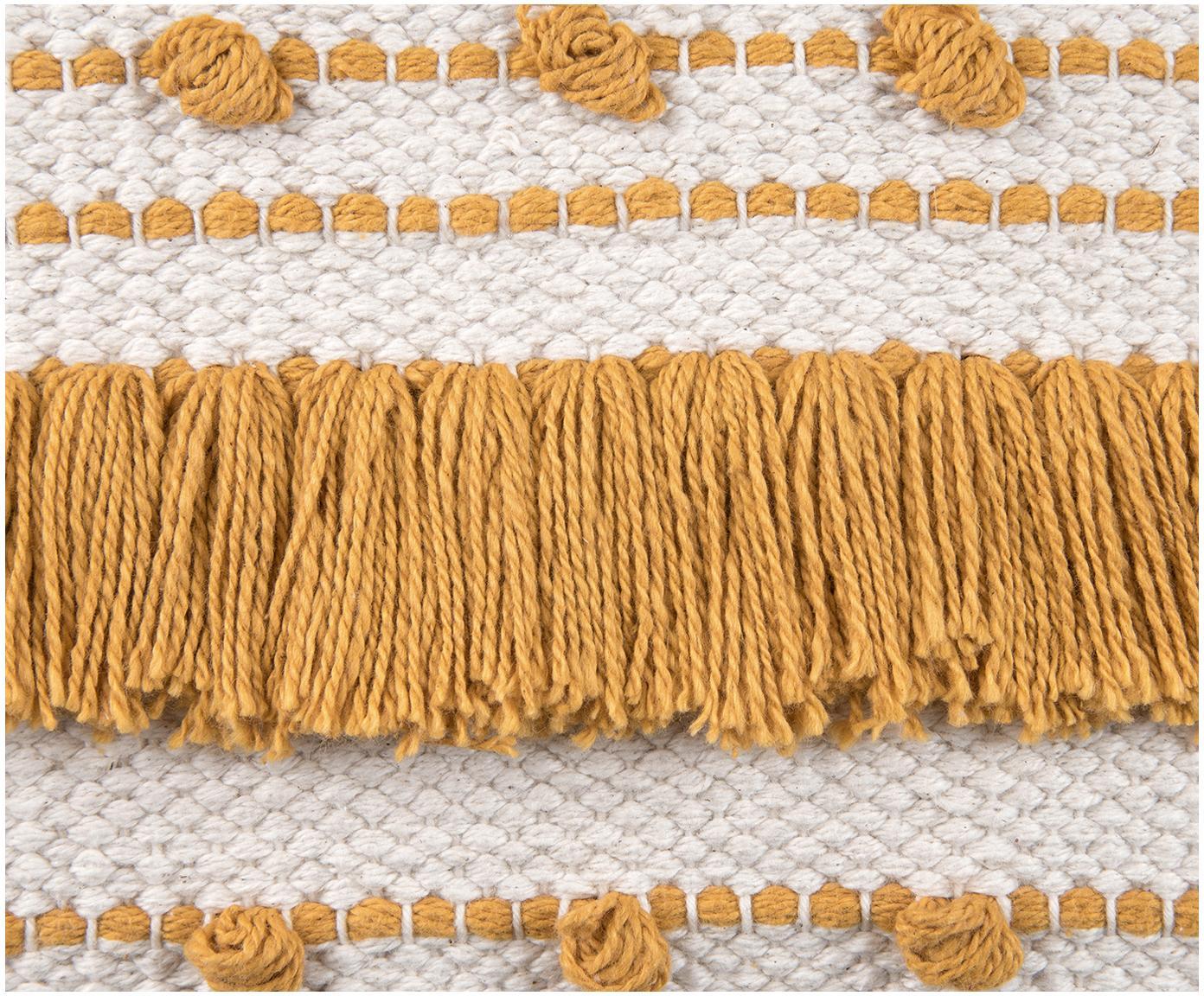 Kussenhoes Tulika, 100% katoen, Geel, ecru, 45 x 45 cm