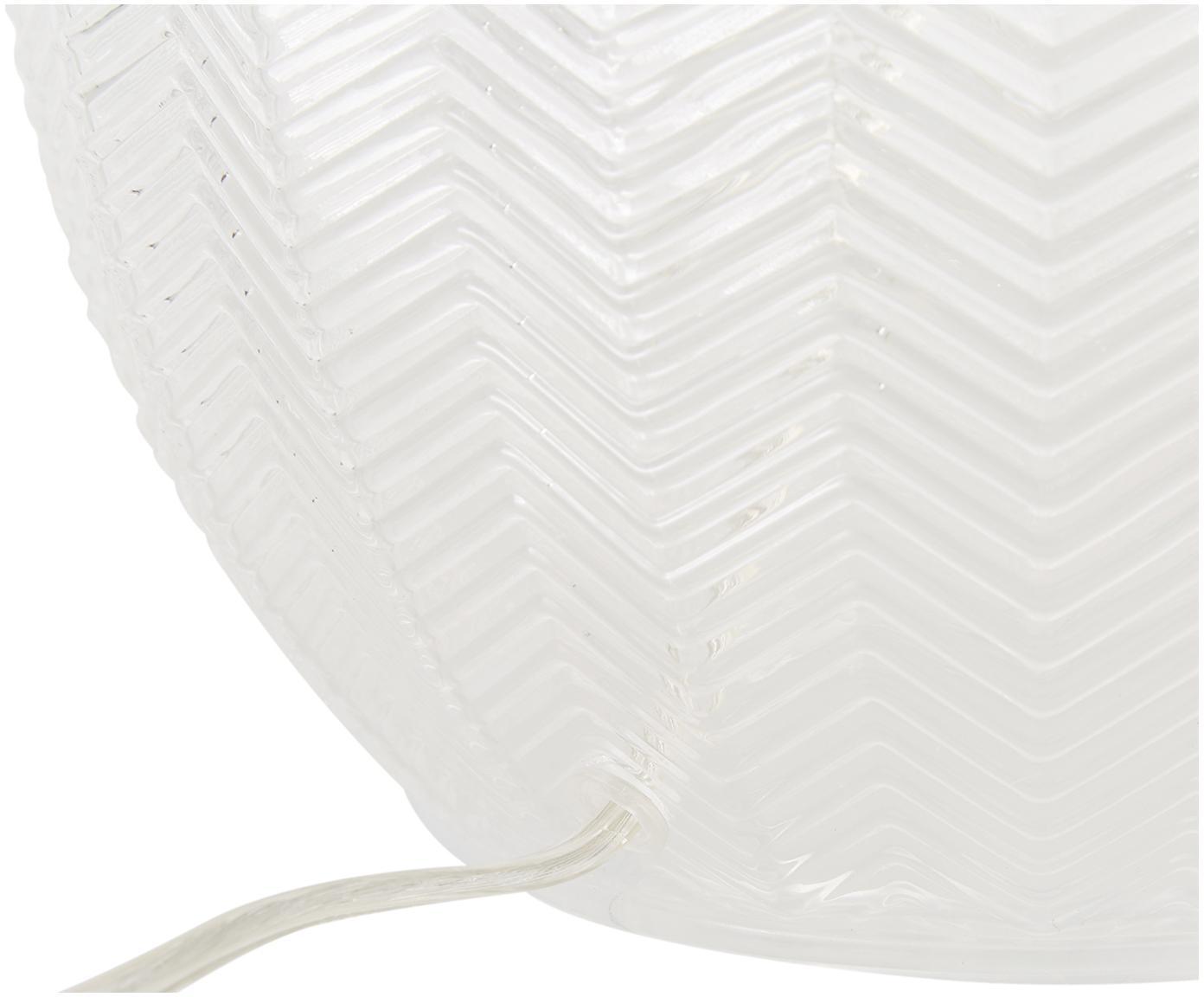 Lampa stołowa Sue, Klosz: biały Podstawa lampy: transparentny, mosiądz, szczotkowany, Ø 33 x W 47 cm