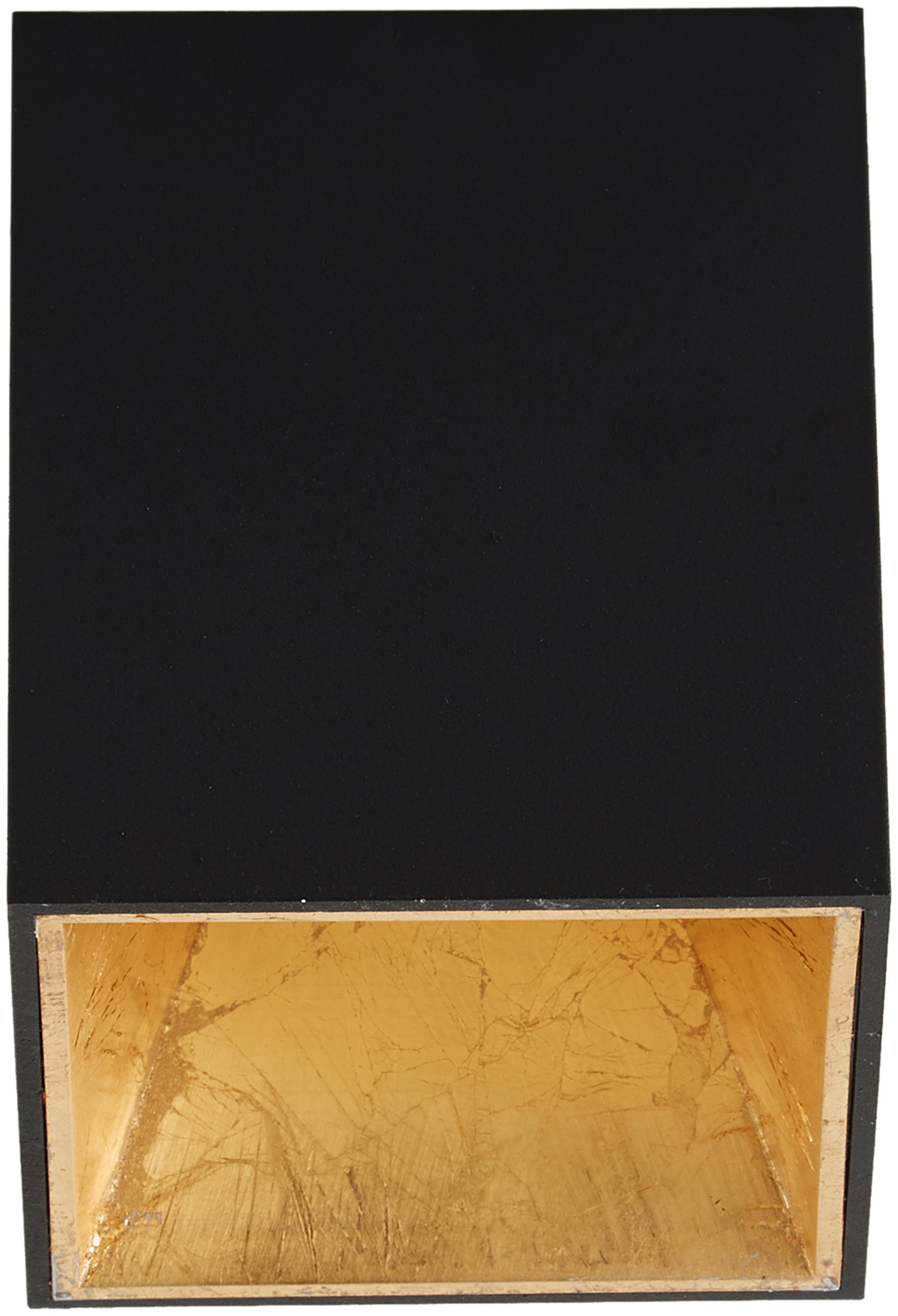 Plafondlamp Marty, Zwart, goudkleurig, 10 x 12 cm