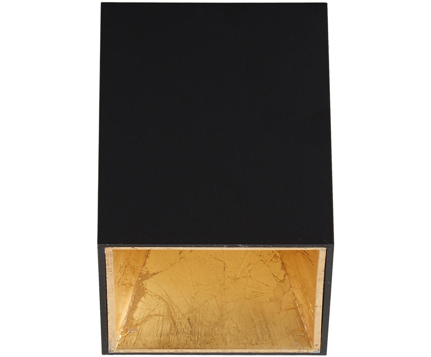 Lampa spot LED Marty, Czarny, odcienie złotego, S 10 x W 12 cm