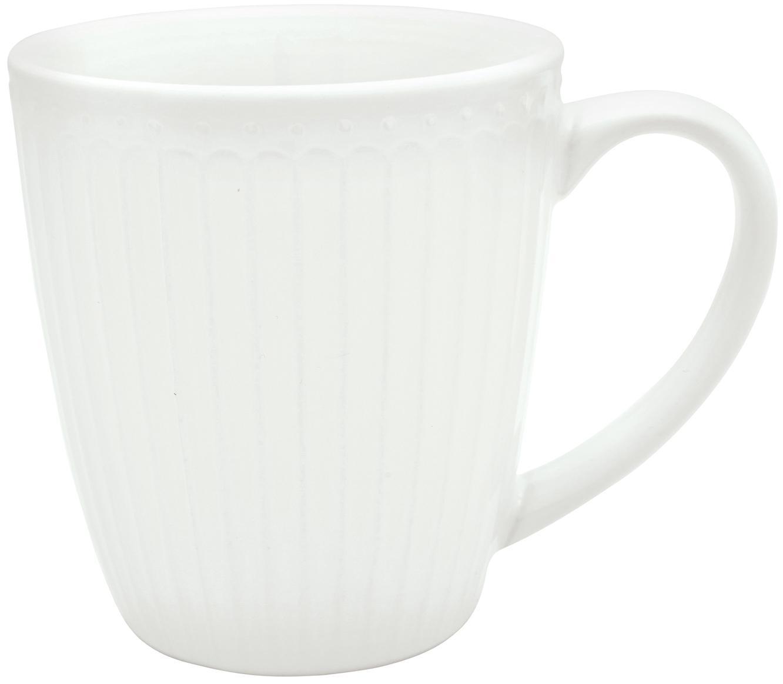 Tazza Alice 2 pz, Porcellana, Bianco, Ø 10 x Alt. 10 cm