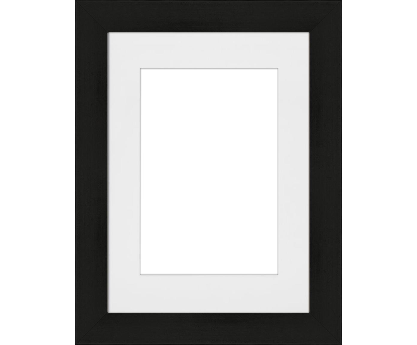Bilderrahmen Apollon, Rahmen: Monterey-Kiefernholz, lac, Front: Glas, Rückseite: Mitteldichte Holzfaserpla, Schwarz, 13 x 18 cm