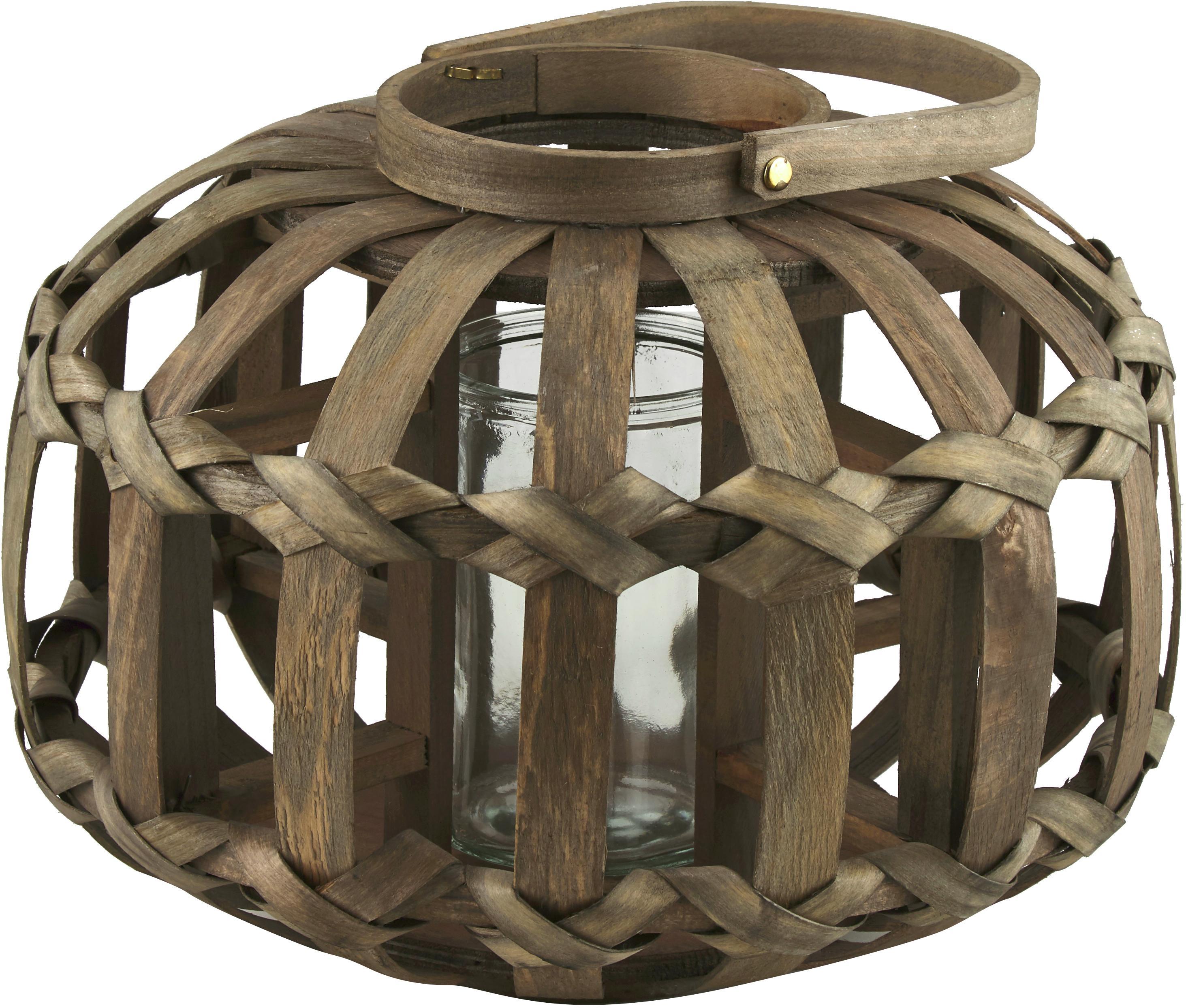 Windlicht Knots, Braun, Ø 33 x H 26 cm