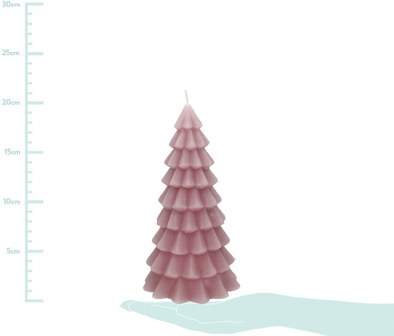 Kerze Christmas Tree, Paraffinwachs, Rosa, Ø 10 x H 20 cm