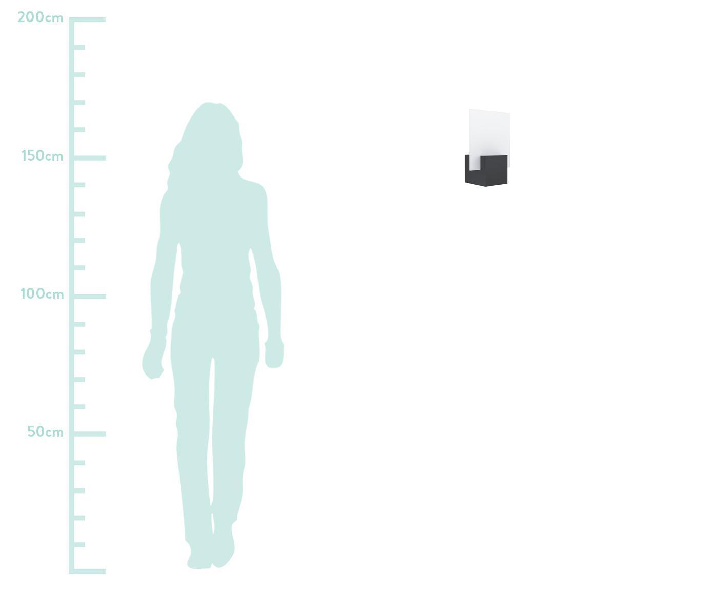 Zewnętrzny kinkiet LED Adamello, Czarny, biały, S 20 x W 28 cm