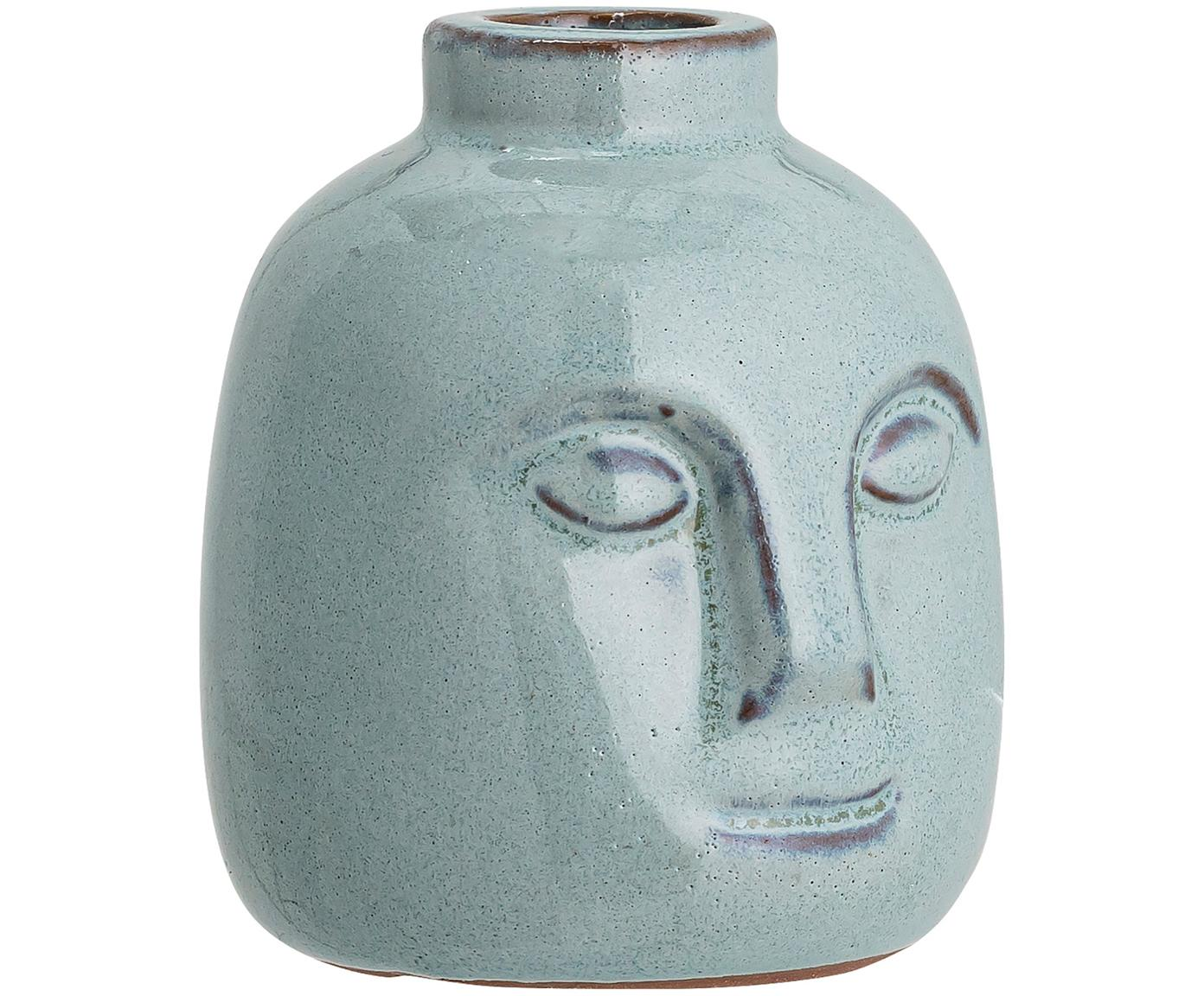 Handgemaakte kandelaar Brit, Keramiek, Blauw, Ø 9 cm