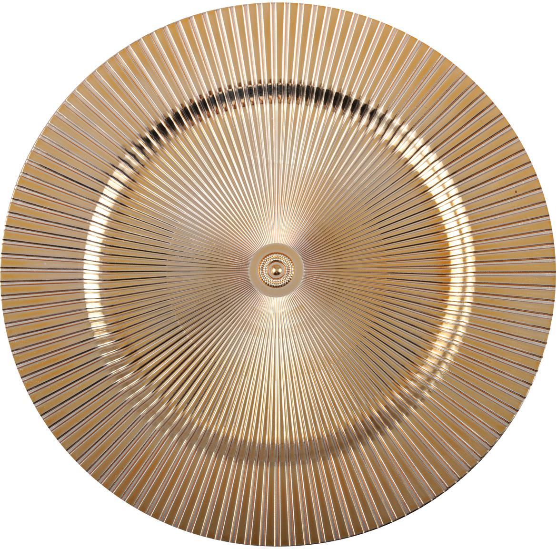 Podstawka pod talerz Elegance, Tworzywo sztuczne, Złoty, Ø 31 cm
