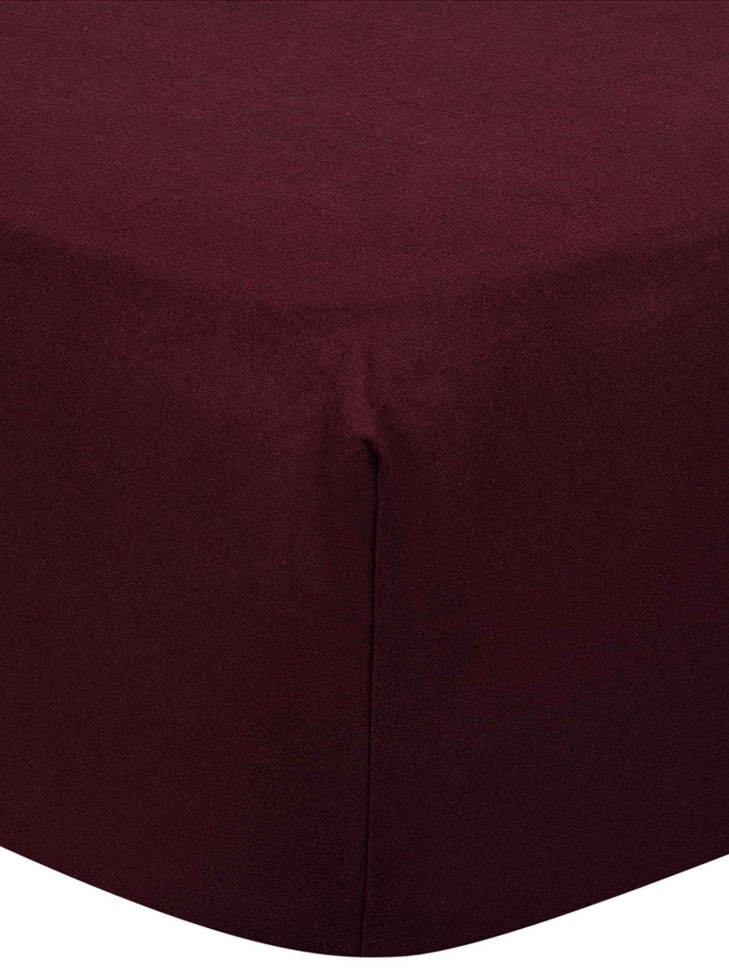 Spannbettlaken Biba in Dunkelrot, Flanell, Webart: Flanell, Dunkelrot, 180 x 200 cm