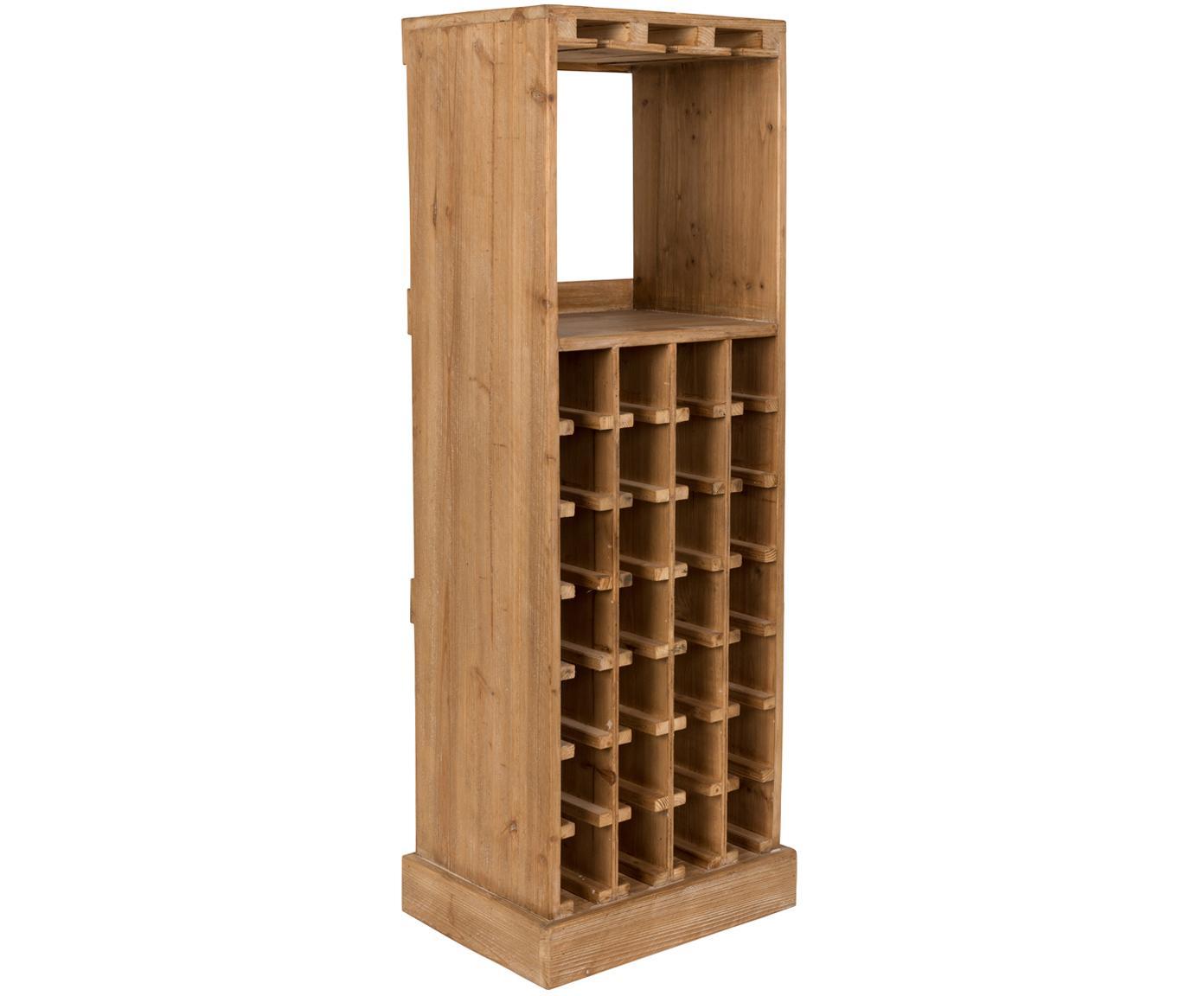 Weinregal Claude in Eiche für 28 Flaschen, Eichenholz, 44 x 119 cm