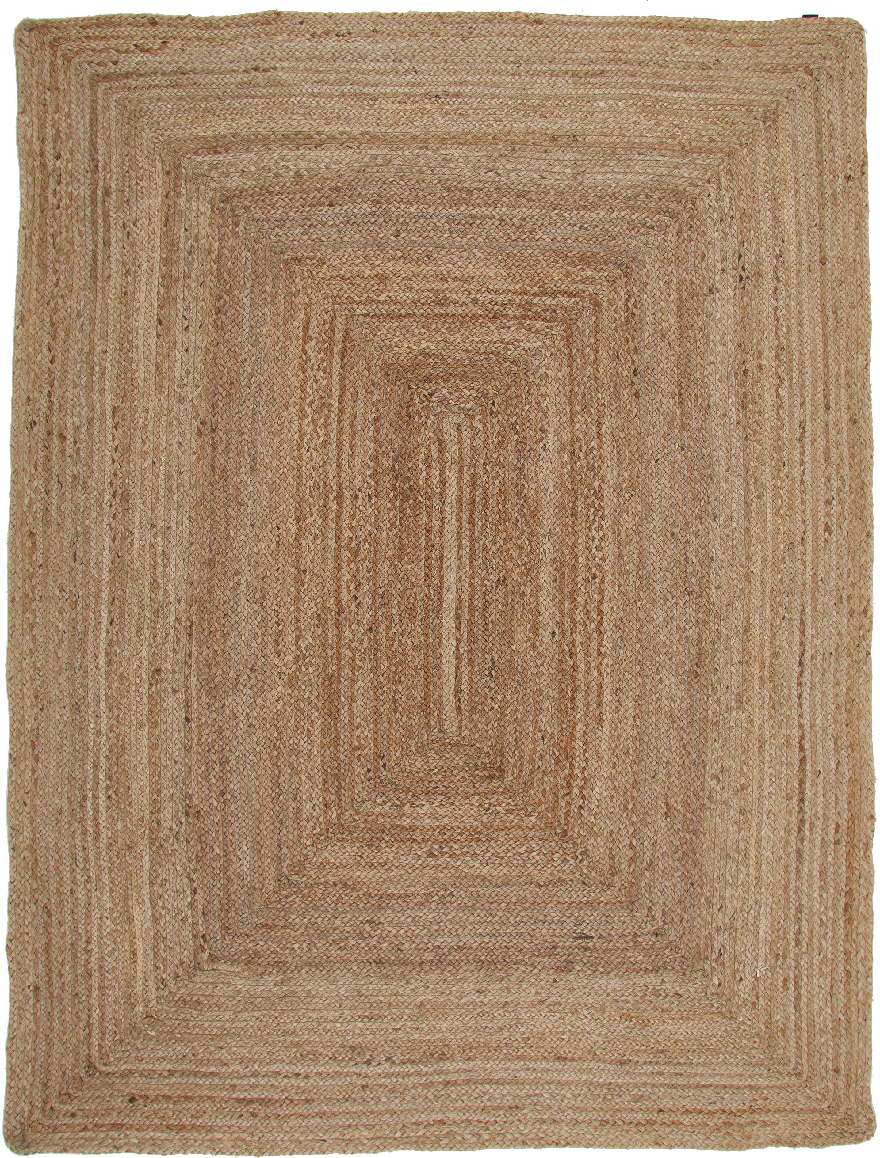 Dywan z juty Ural, Juta, Beżowy, S 150 x D 200 cm (Rozmiar S)