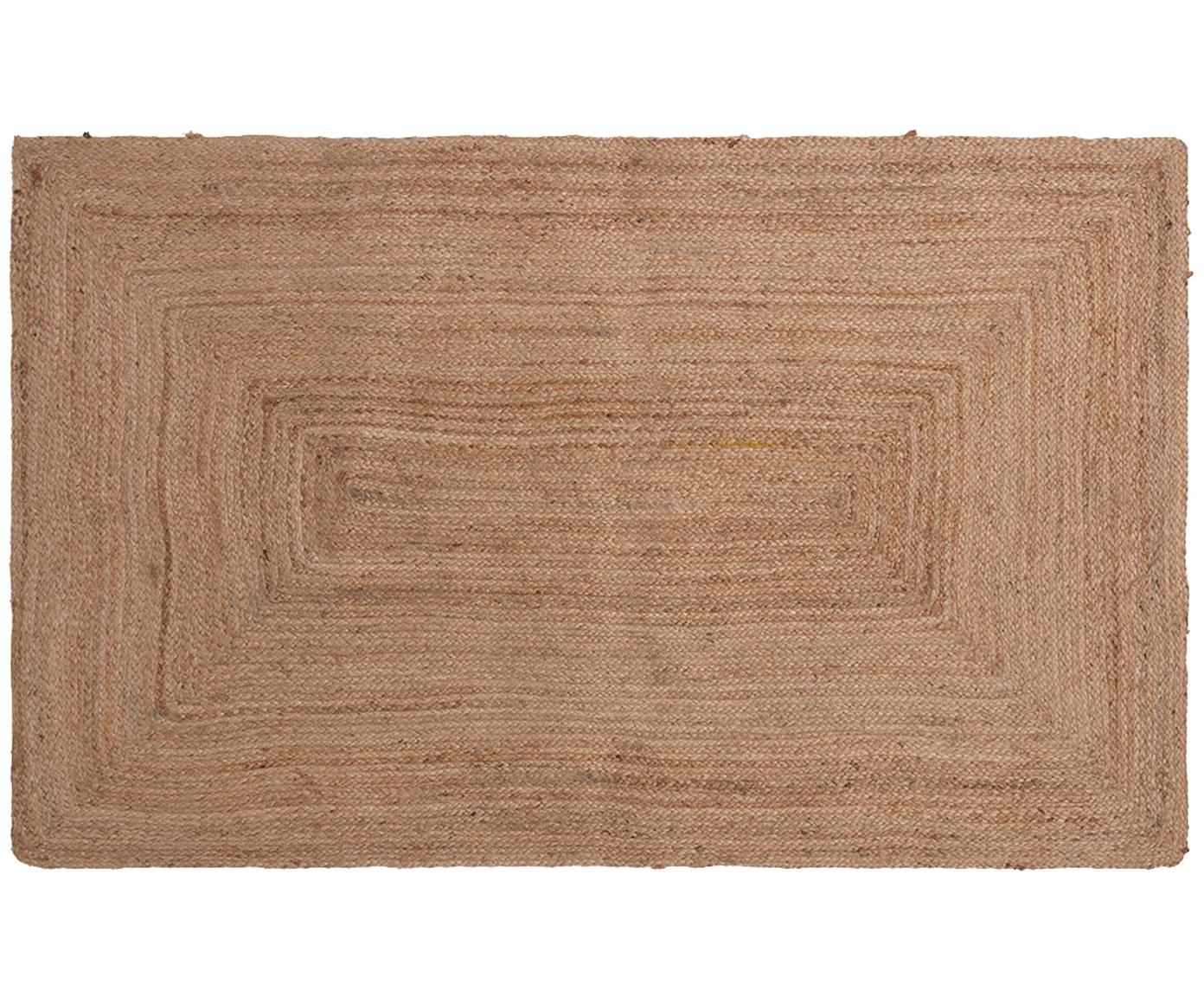 Juteteppich Ural, 100% Jute, Beige, B 150 x L 200 cm (Größe S)