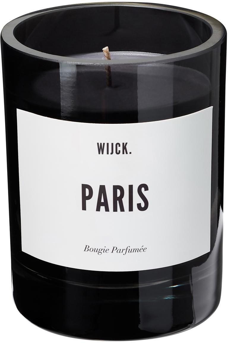 Duftkerze Paris (Bergamotte, Rosen & Moschus), Behälter: Glas, mundgeblasen, Schwarz, Ø 8 x H 11 cm