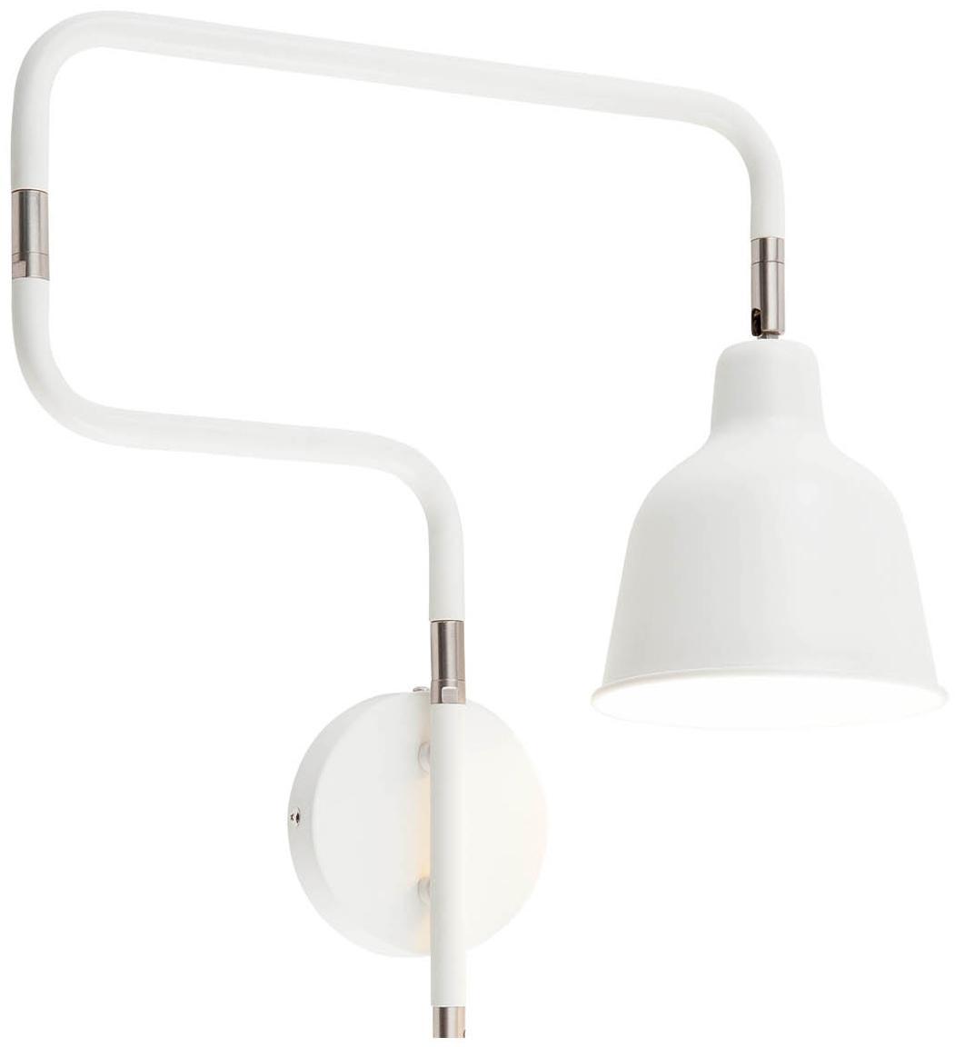 Wandleuchte Multi mit Stecker, Leuchte: Metall, lackiert, Weiß, 63 x 40 cm