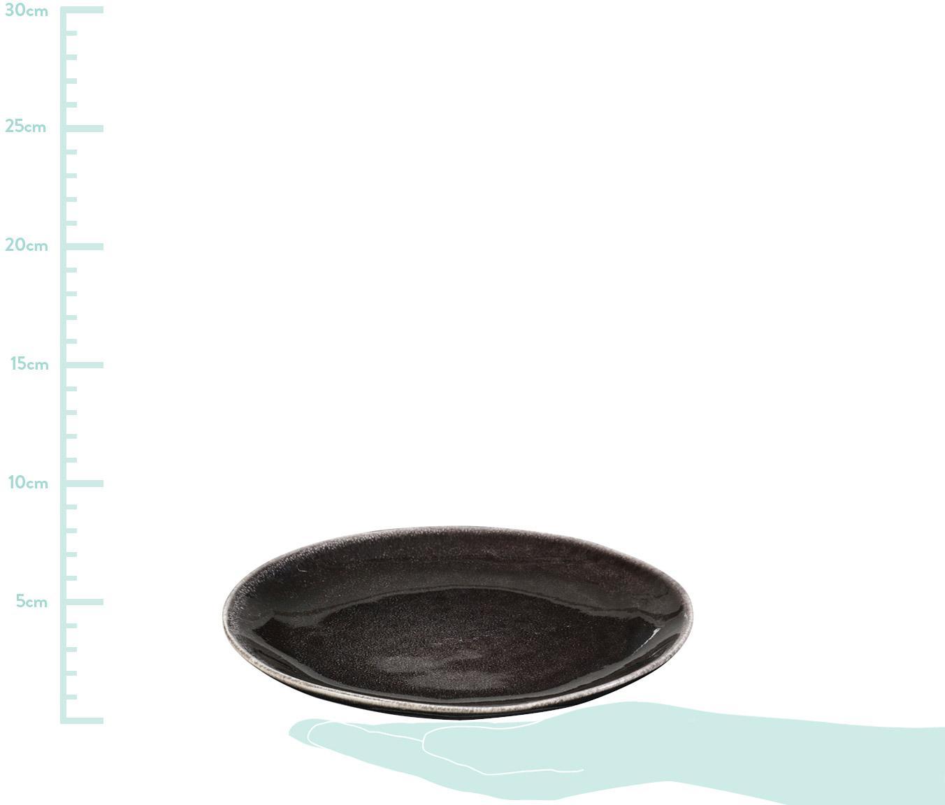 Assiettes à dessert faites à la main Nordic Coal, Tons bruns