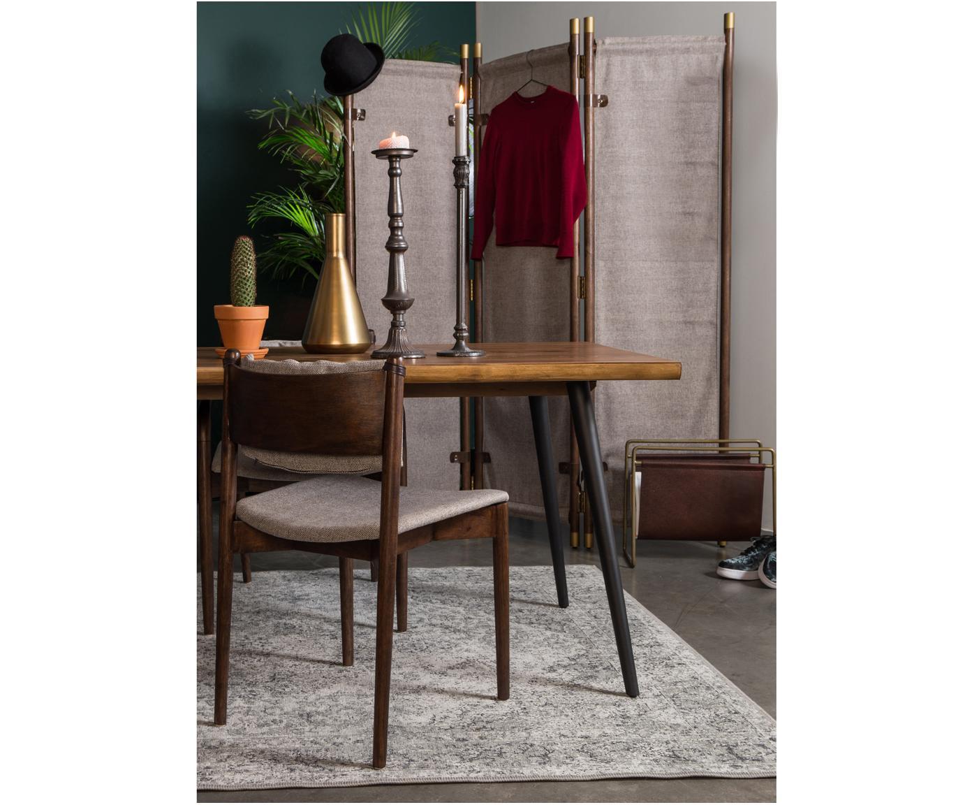 Gestoffeerde stoelen Torrance, 2 stuks, Bekleding: polyester, Frame: massief rubberhout, licht, Beige, acaciahoutkleurig, 46 x 53 cm