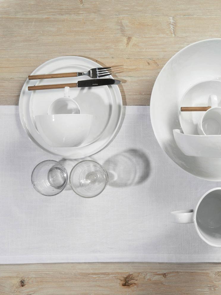 Assiettes à dessert à surface inégale Porcelino, 4pièces, Blanc