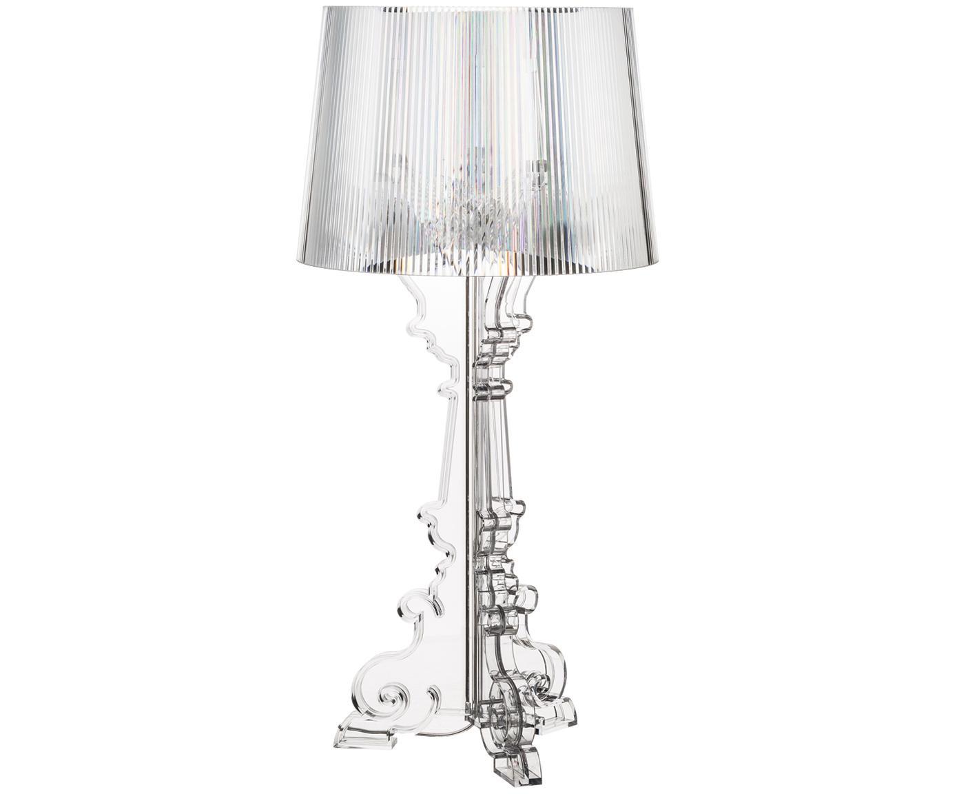 Lampa stołowa XL Bourgie, Poliwęglan, Transparentny, Ø 37 x W 78 cm