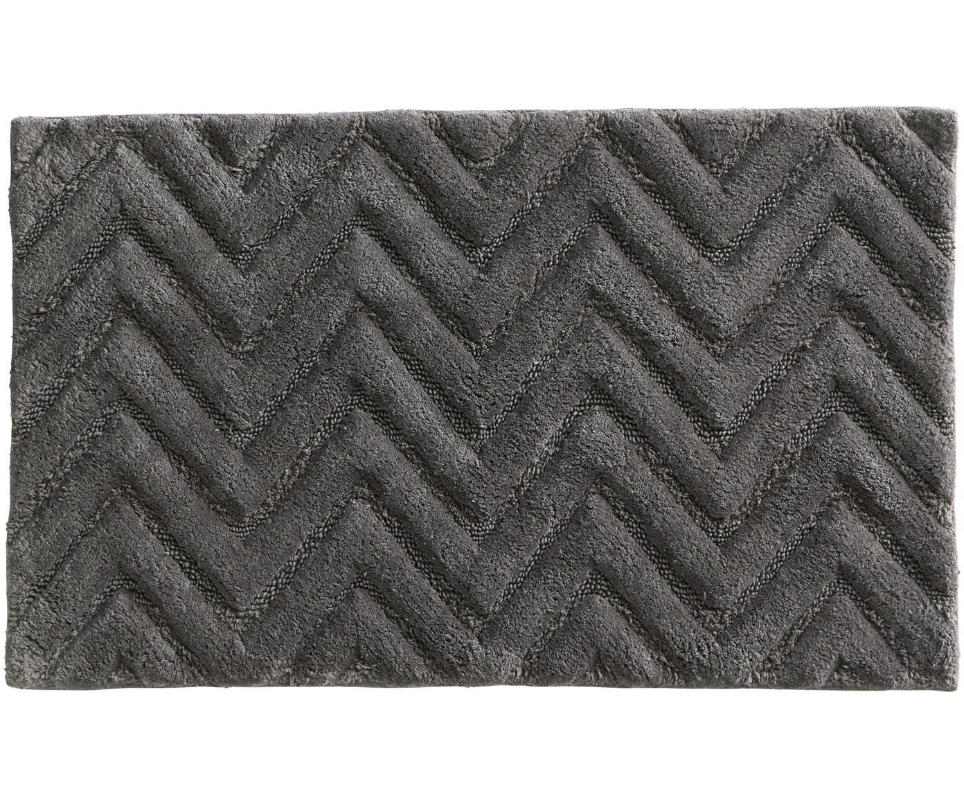Dywanik łazienkowy Arild, Bawełna, Ciemny szary, S 50 x D 80 cm