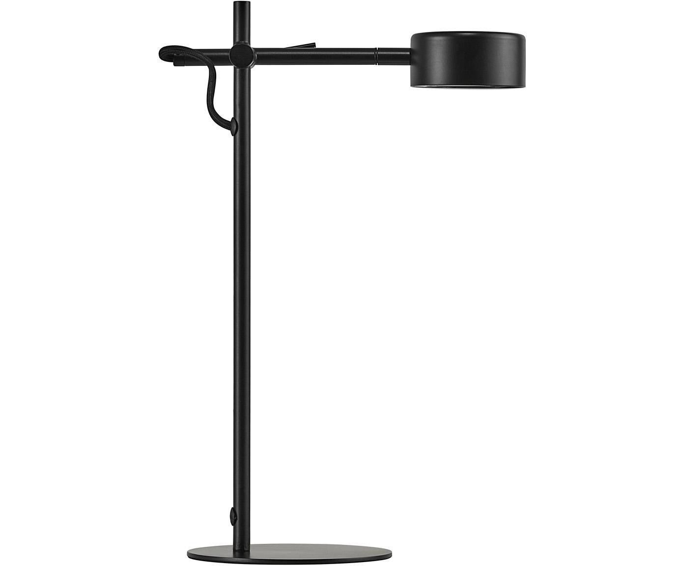 Lámpara de escritorio LED Clyde, Cable: plástico, Negro, An 15 x Al 41 cm
