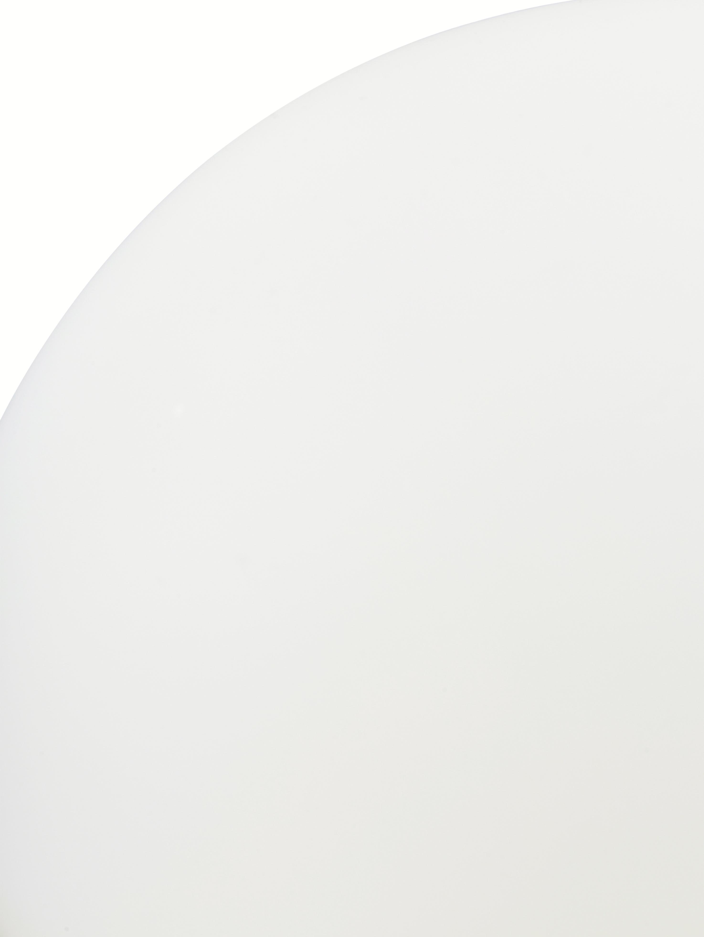 Lampada da tavolo in vetro opale Alton, Base della lampada: ottone, Ottone, bianco, Ø 20 x Alt. 29 cm