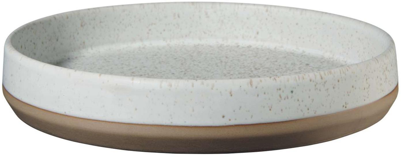 Servierschalen Caja in Braun/Beige matt, 2 Stück, Terrakotta, Braun- und Beigetöne, Ø 21 cm