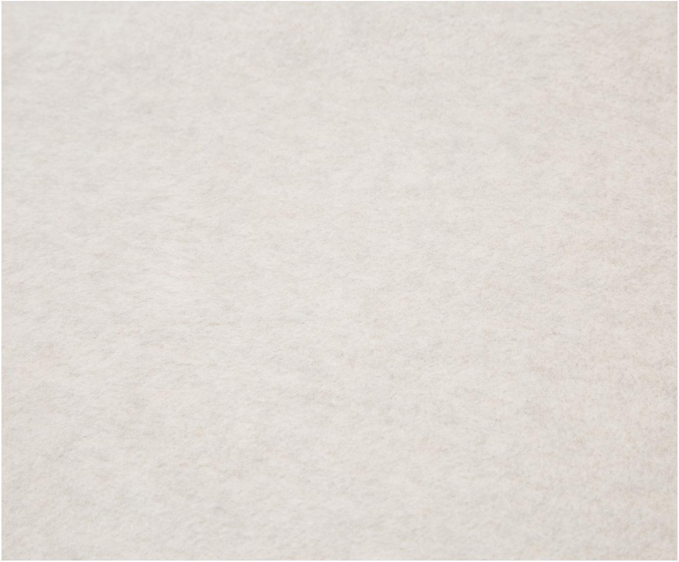 Dwustronny pled z polaru Uni Doubleface, 58% bawełna, 35% poliakryl, 7% poliester, Szary, ecru, S 150 x D 200 cm