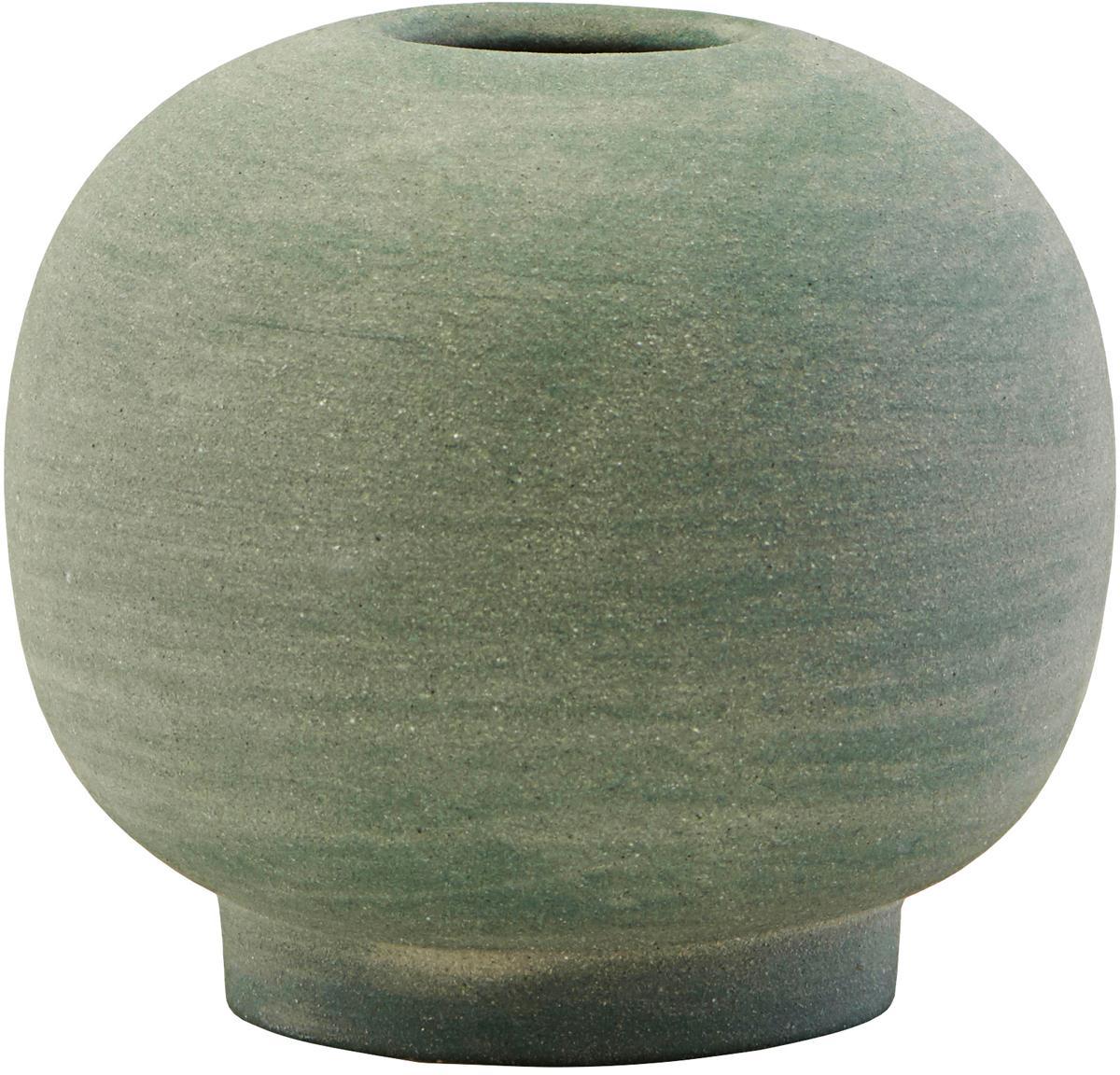 Handgemaakte XS vaas Bobbles van keramiek, Keramiek, Groen, Ø 7 x H 7 cm