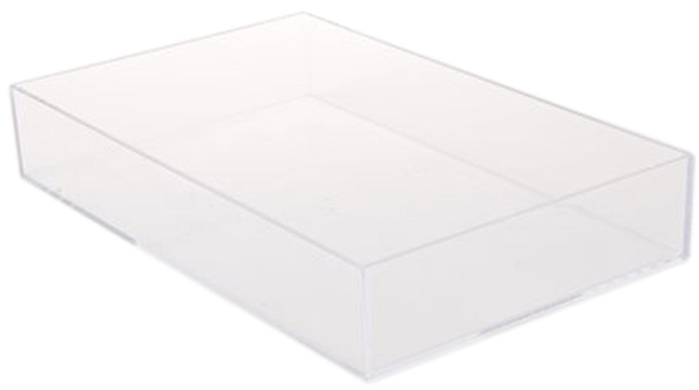 Vassoio Ray, Acrilico, Trasparente, Larg. 21 x Lung. 33 cm