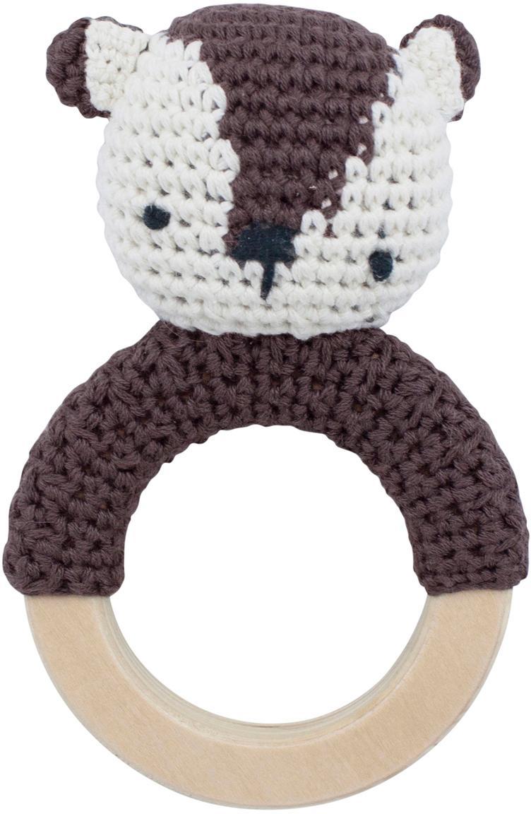 Juguete agarrador Milo, Exterior: algodón, Marrón, blanco, An 8 x Al 13 cm