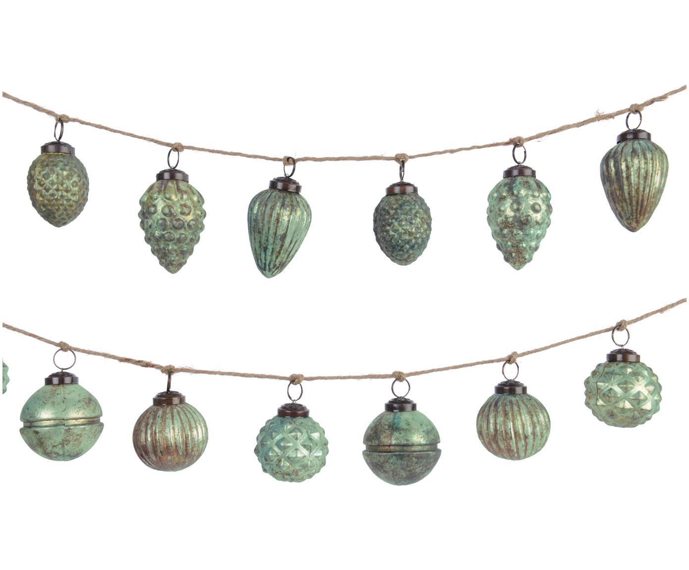 Set de guirnaldas navideñas Dil, 2pzas., Vaso, Verde, L 120 cm