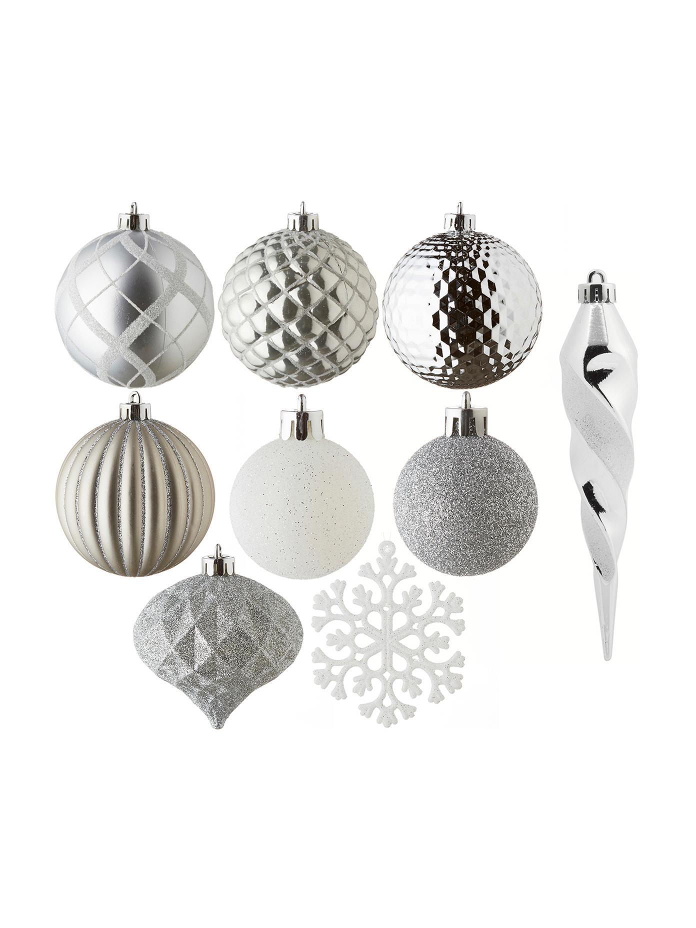 Kerstboomhangersset Valerie, 50-delig, Kunststof, Multicolour, Verschillende formaten