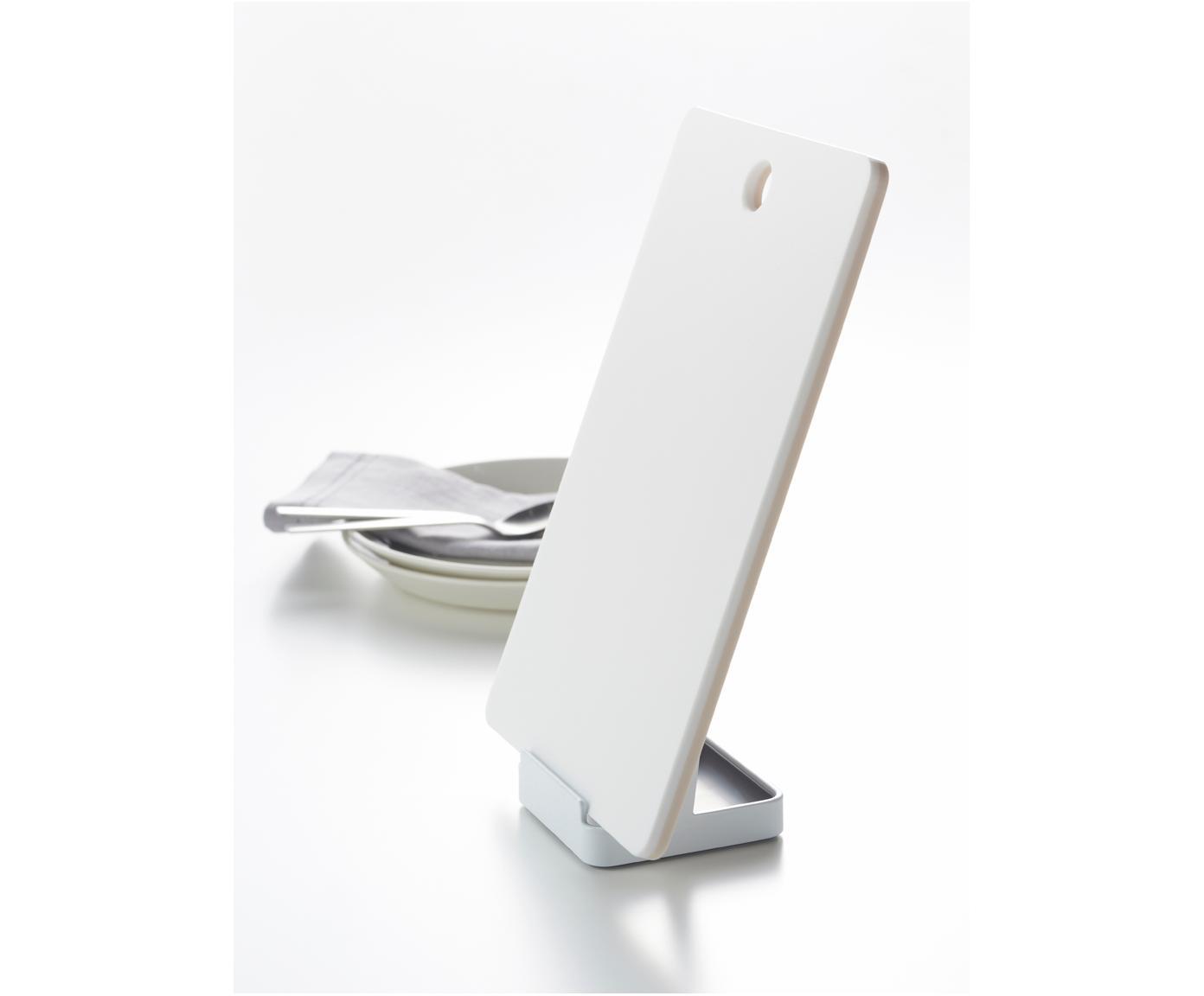 Uchwyt na przybory kuchenne Tosca, Biały, drewno naturalne, S 11 x W 16 cm